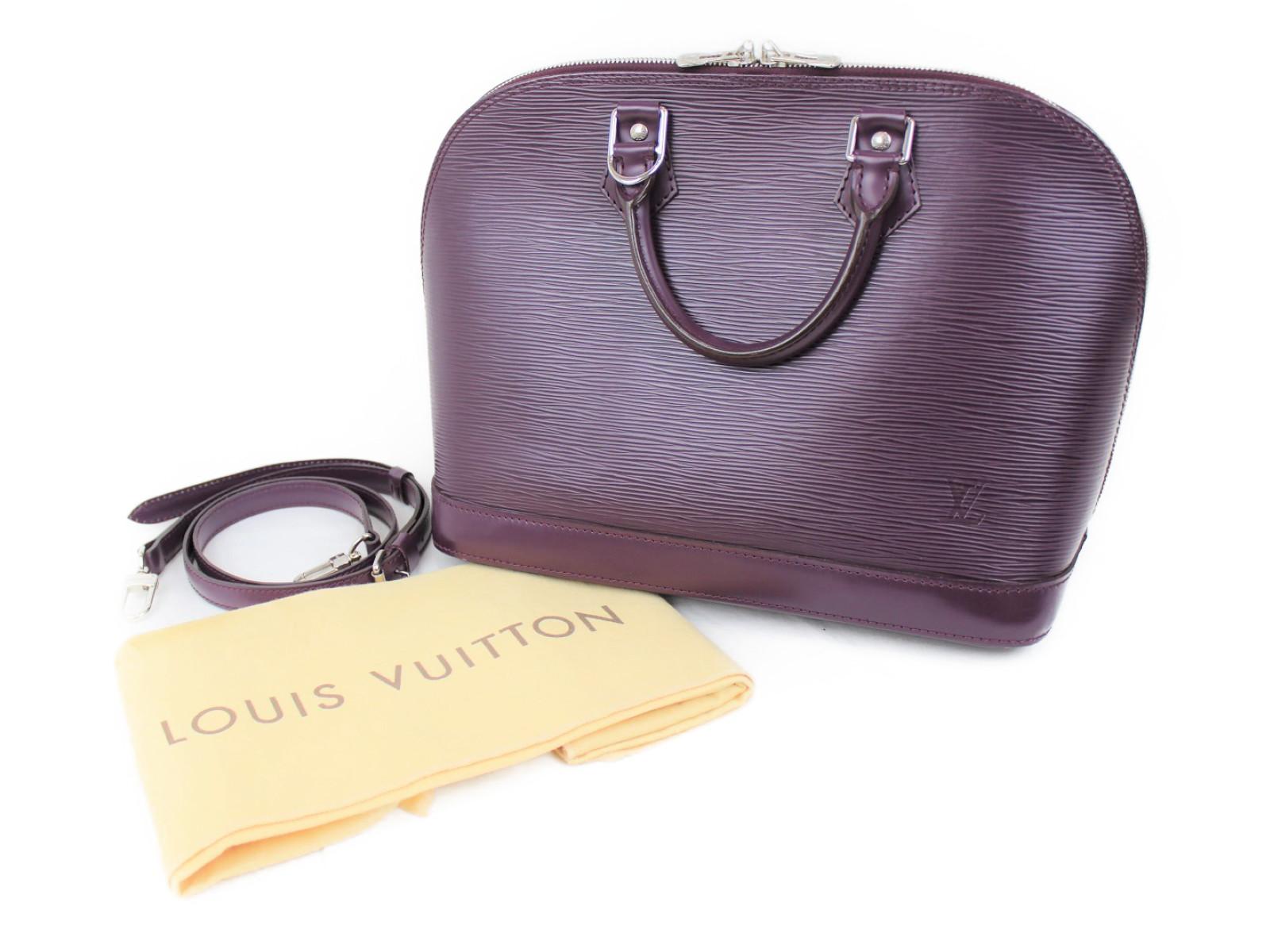 【布袋有り】LOUIS VUITTON ルイヴィトン M5280k アルマ ハンドバッグ エピ レザー カシス パープル系 紫 レディース 女性 メンズ 男性 紳士物 プレゼント ギフト【中古】