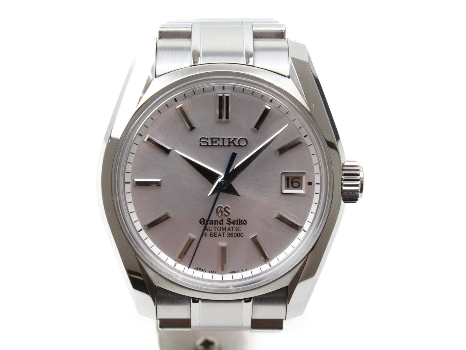 【世界1000本限定】GRAND SEIKO グランドセイコー ハイビート SBGH037 SS ステンレススチール シルバー文字盤 デイト 青針 メンズ 腕時計 【中古】