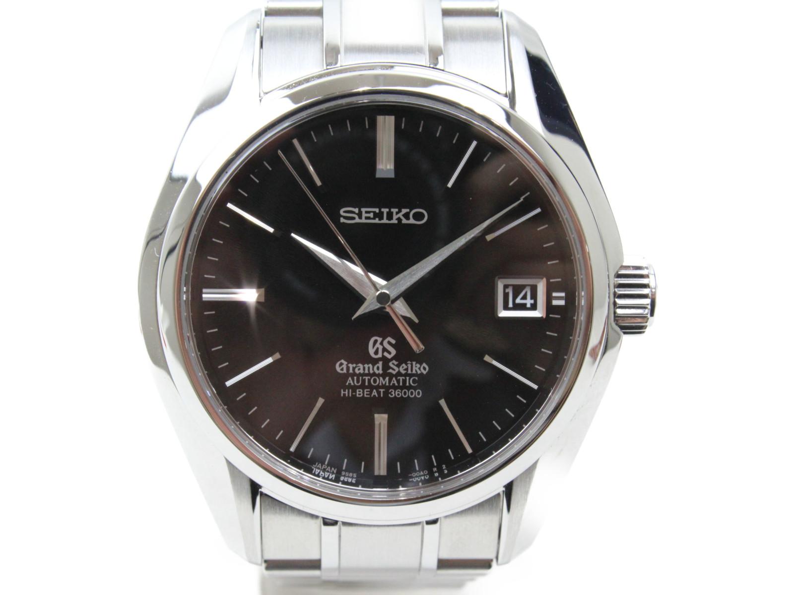 【マスターショップ限定】Grand Seiko グランドセイコー ハイビート SBGH005 自動巻き デイト SS ステンレススチール ブラック メンズ 腕時計【中古】