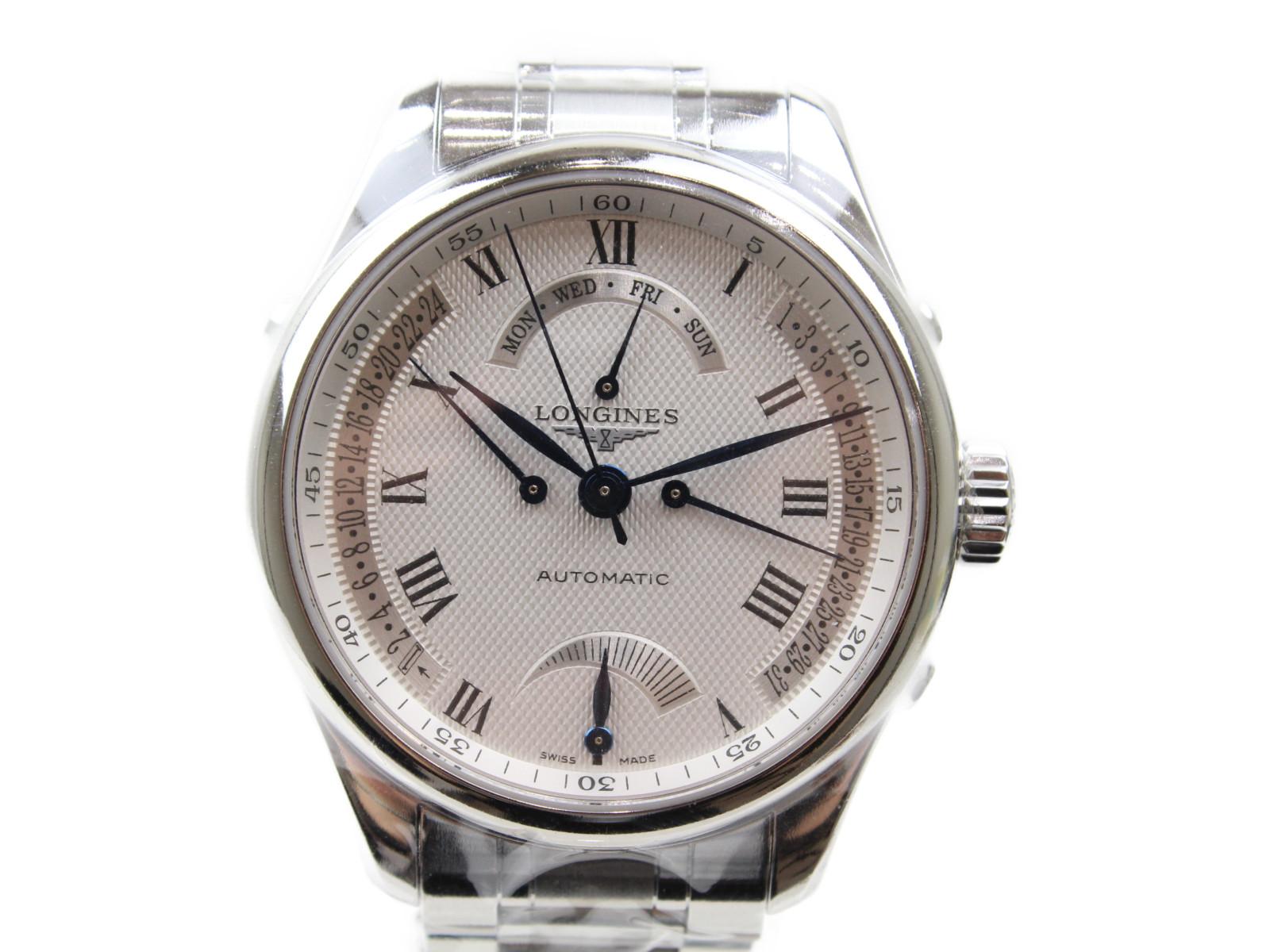 【未使用品】LONGINES ロンジン マスターコレクション L2.714.4.71.6 自動巻き カレンダー SS ステンレススチール シースルーバッグ シルバー メンズ 腕時計【中古】