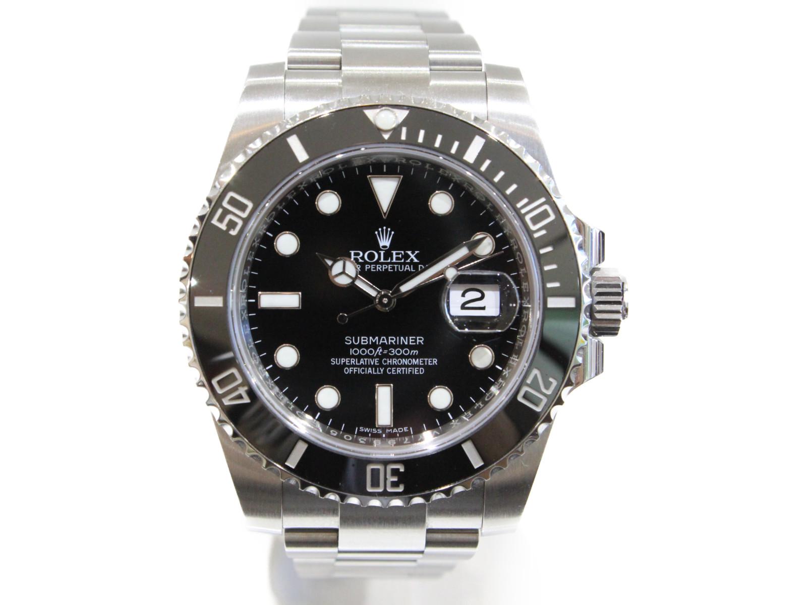 【ギャラ有】ROLEX ロレックス サブマリーナーデイト 116610LN ランダム 2016年購入 自動巻き デイト SS ステンレススチール ブラック メンズ 腕時計【中古】