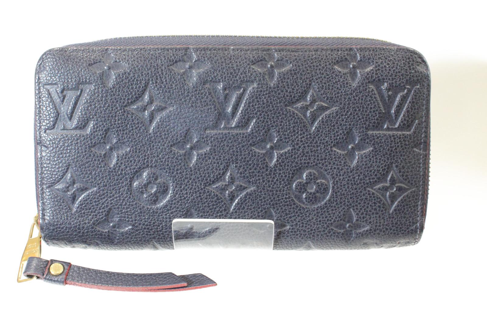 LOUIS VUITTON ルイヴィトンジッピーウォレット M62121アンプラント 長財布 レザープレゼント包装可 【中古】