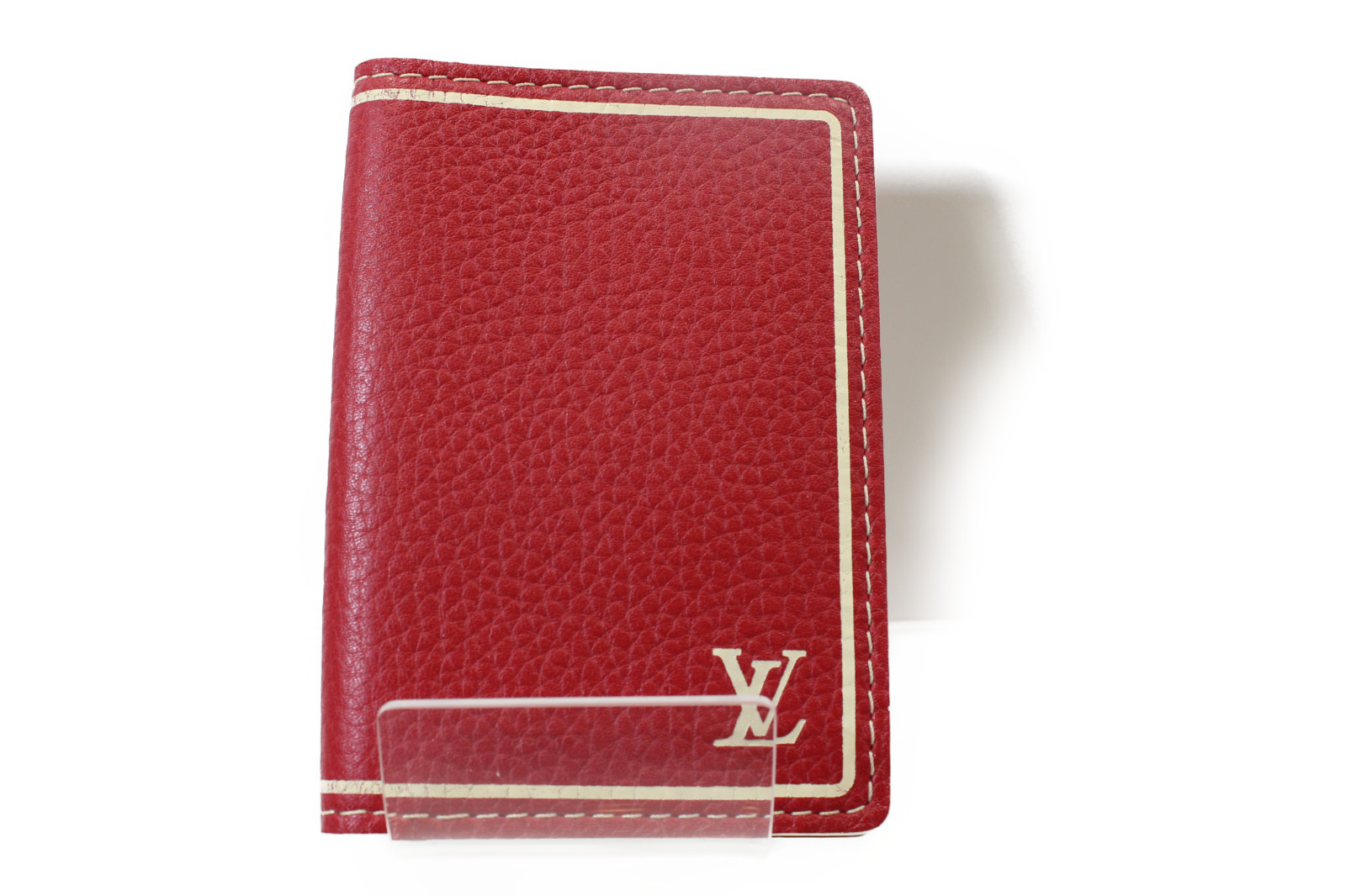 【☆レア商品☆】LOUIS VUITTON ルイヴィトンオーガナイザー・ドゥ・ポッシュ M95144レザー 赤 シンプル カードケースプレゼント包装可 【中古】