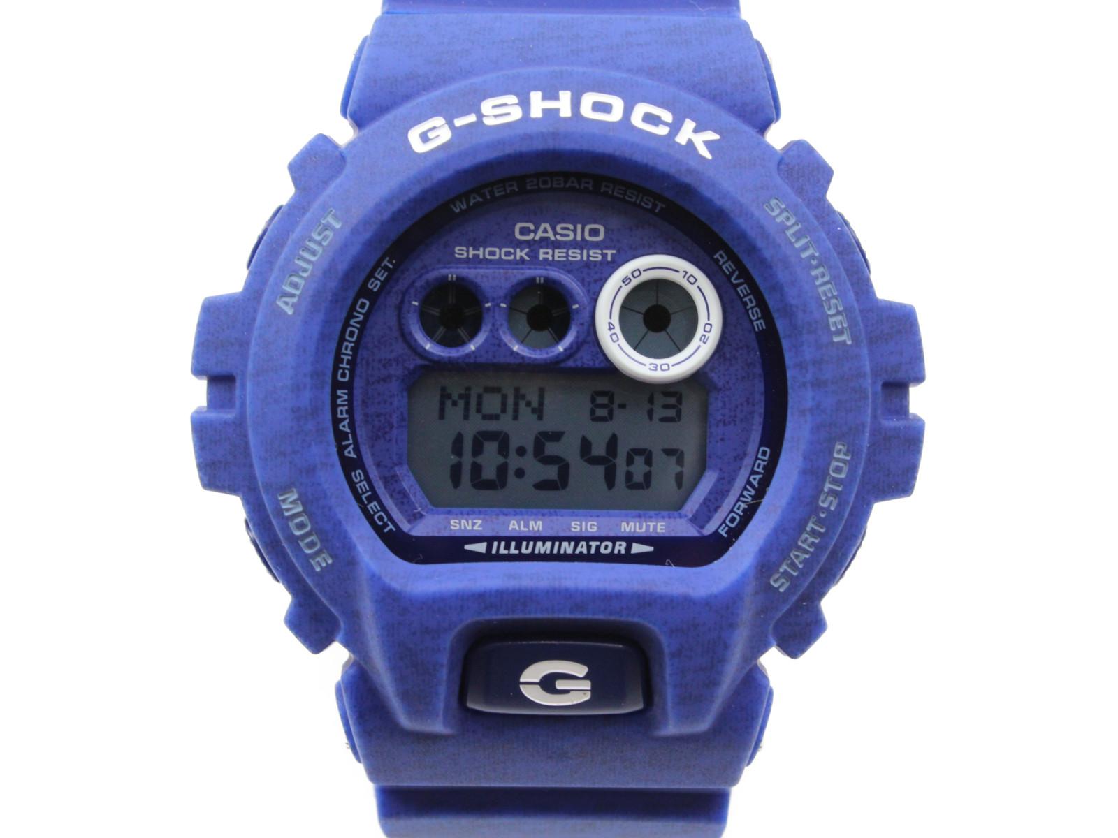 【パターンシリーズ】CASIO カシオ G-SHOCK GD-X6900HT-2JF デジタル ブルー メンズ 腕時計 ギフト プレゼント 包装無料【中古】