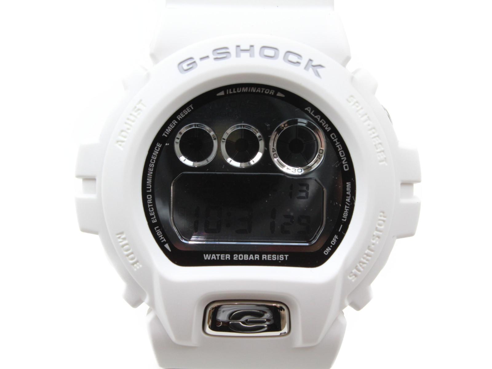 【メタリックダイヤルシリーズ】CASIO カシオ G-SHOCK DW-6900MR-7JF デジタル ホワイト メンズ 腕時計 ギフト プレゼント 包装無料【中古】