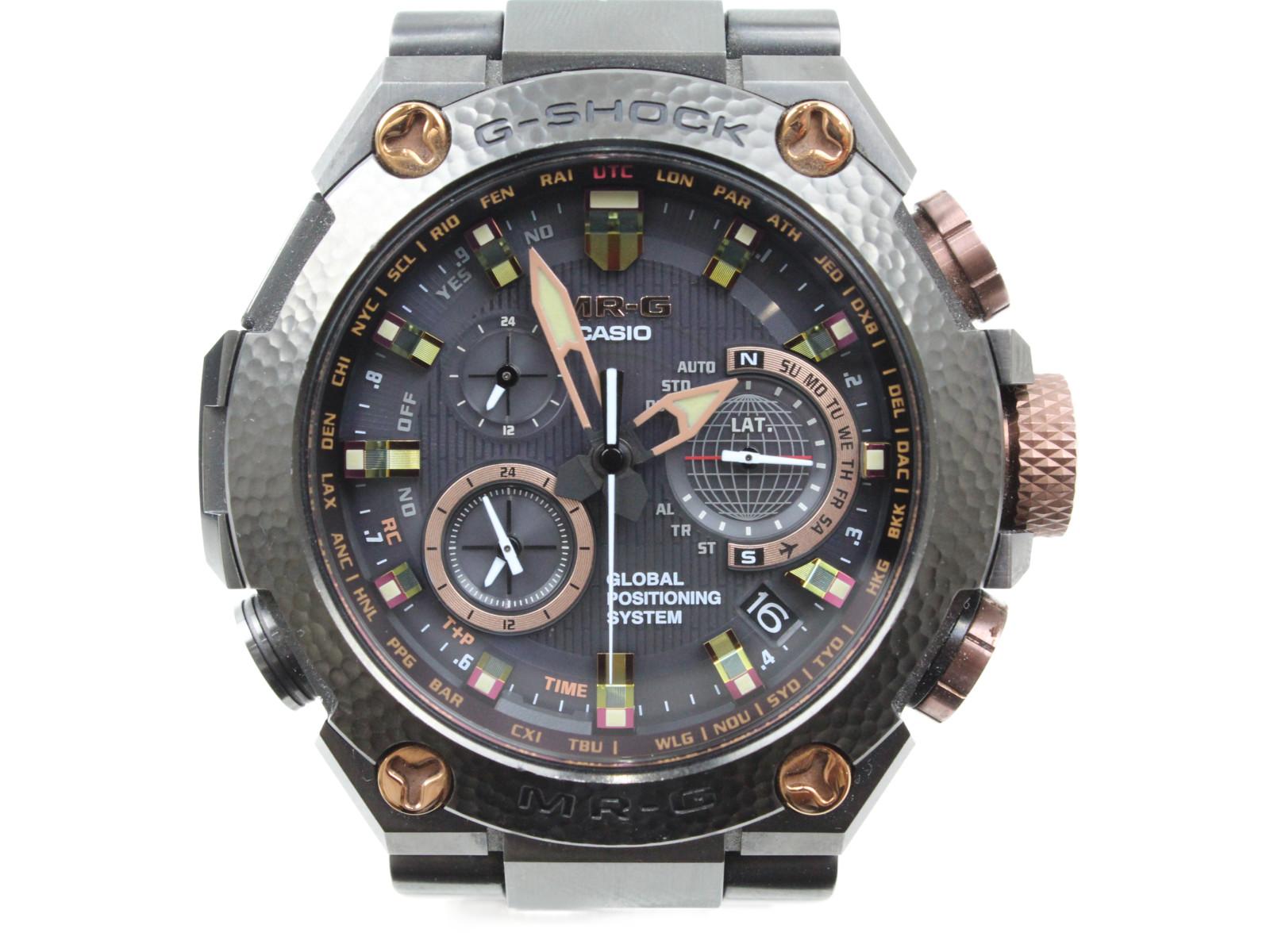 【MR-G20周年記念モデル/世界300本限定】CASIO カシオ G-SHOCK MR-G MRG-G1000HT-1AJR アナログ クロノグラフ ブラック メンズ 腕時計 ギフト プレゼント 包装無料【中古】