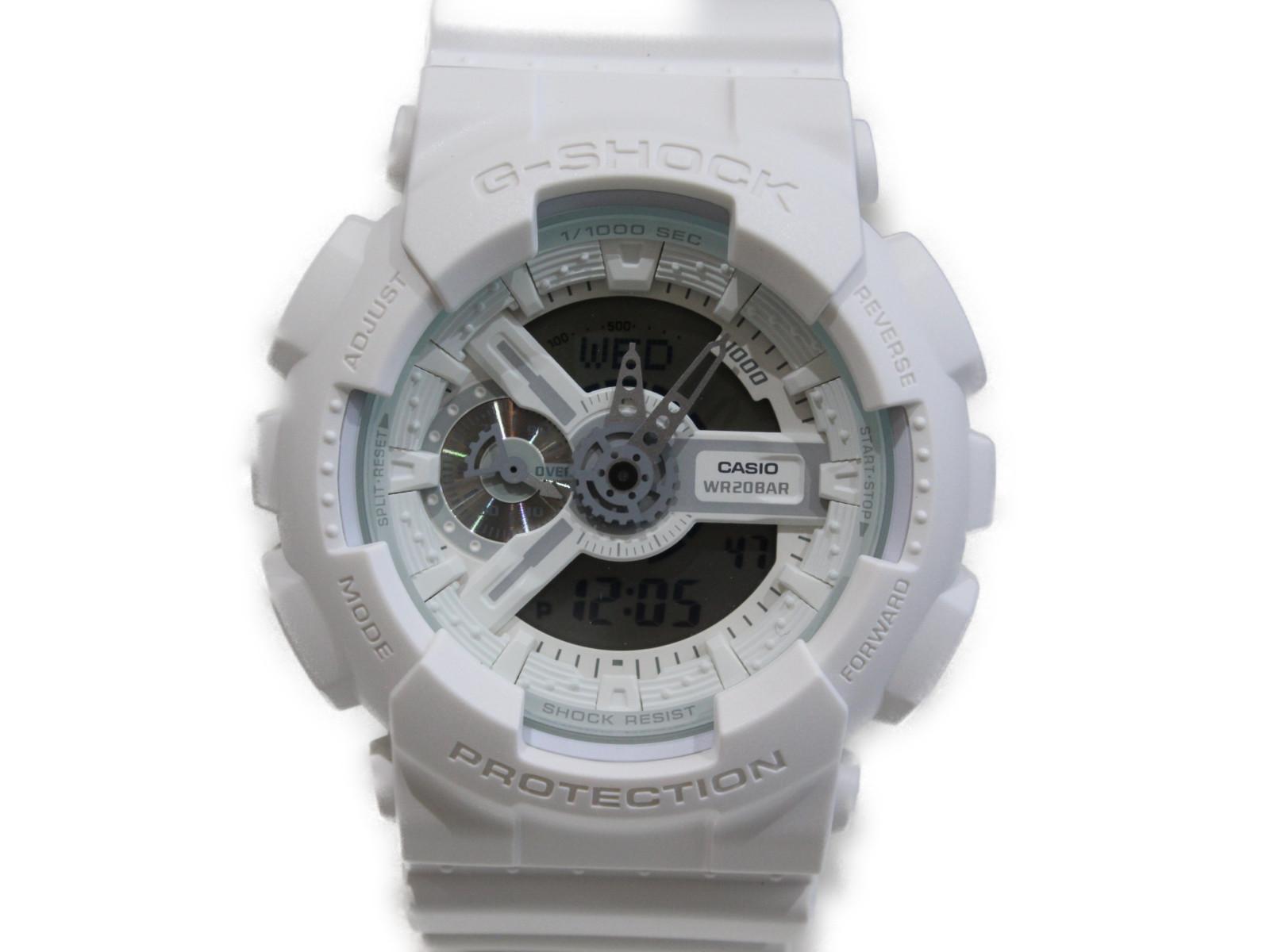 【ペアデザイン】CASIO カシオ G-SHOCK ジーショック GA-110BC-7AJF アナログ デジタル ラバー ホワイト メンズ 腕時計 ギフト プレゼント 包装無料【中古】