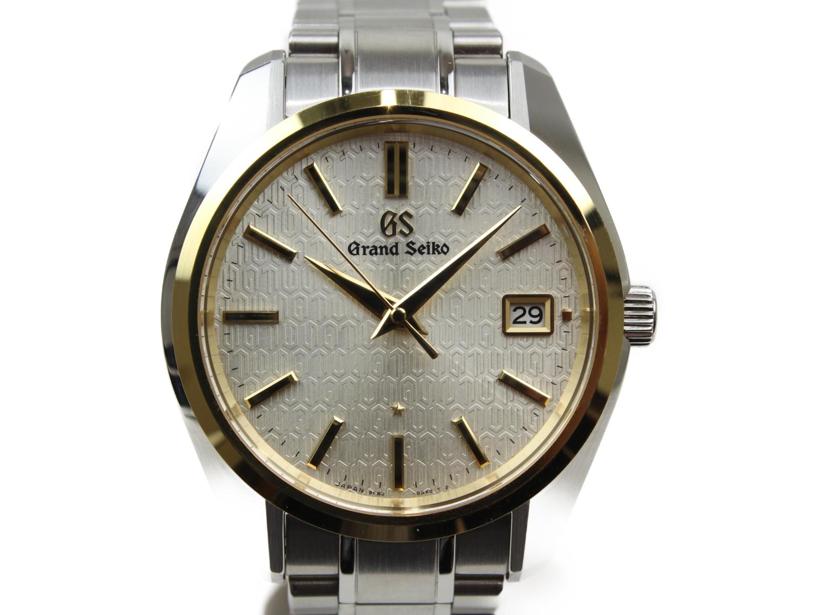 【25周年記念限定モデル】GRAND SEIKO グランドセイコー ギャリバー9F SBGV238 600本限定 クオーツ デイト K18 イエローゴールド ステンレススチール メンズ 腕時計【中古】