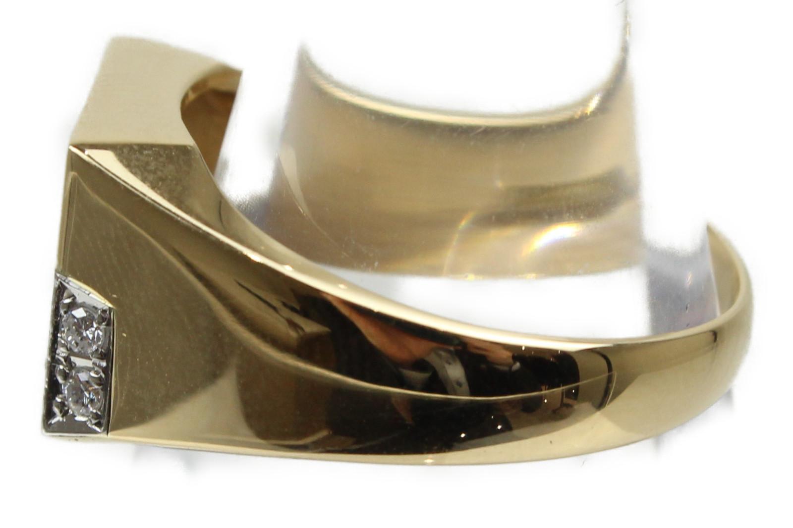 新品仕上げ済コンビ印台リングK18 Pt900 ダイヤモンド0 30ct9 5g 21 5号 シンプルオシャレ 高級 ギフト包装可Fl1JTKc