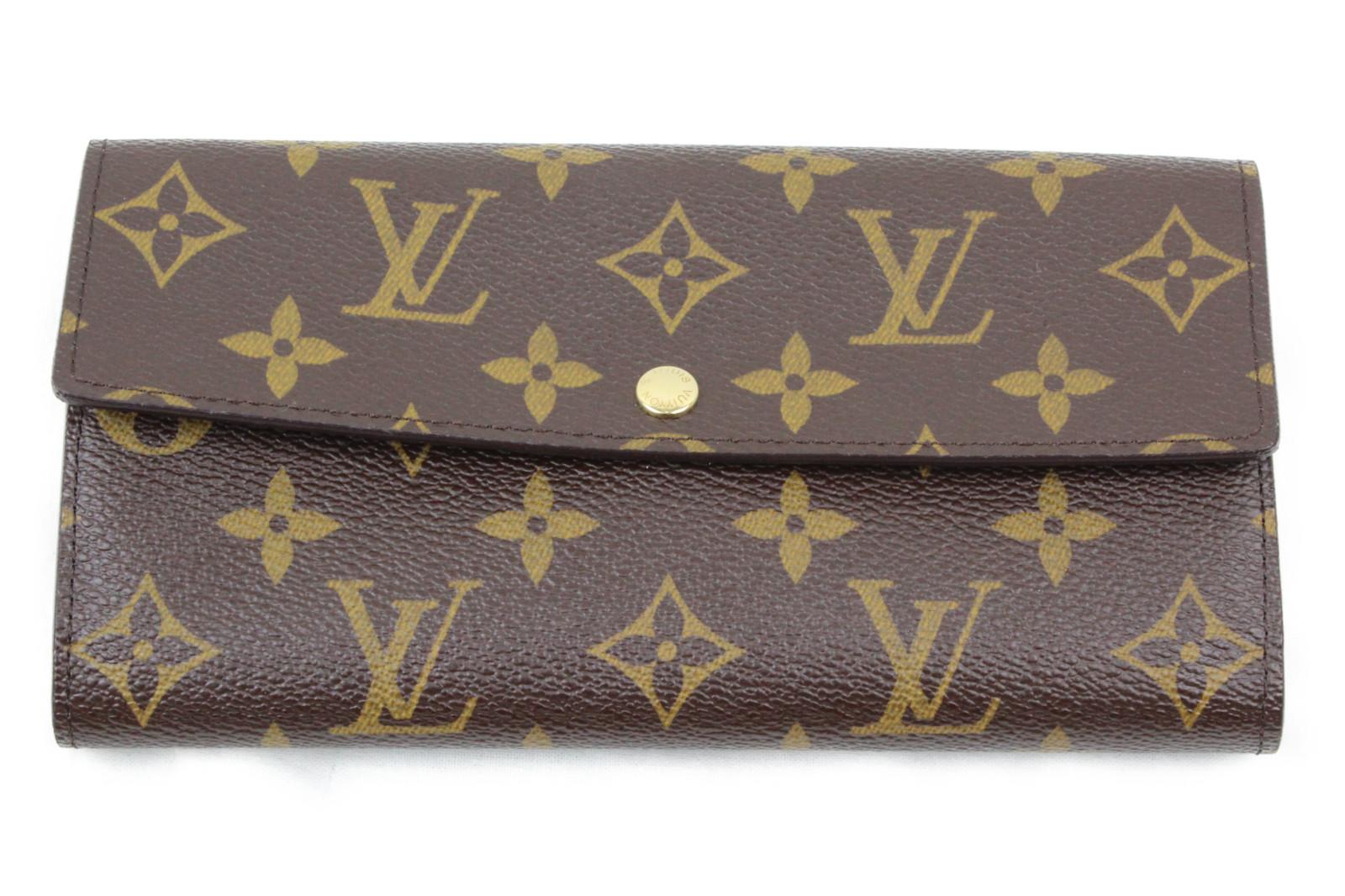【箱、布袋有り】LOUIS VUITTON ルイヴィトン M61734 ポルトフォイユ・サラ モノグラム 二つ折り長財布 レディース 女性 ブランド プレゼント ギフト 【中古】