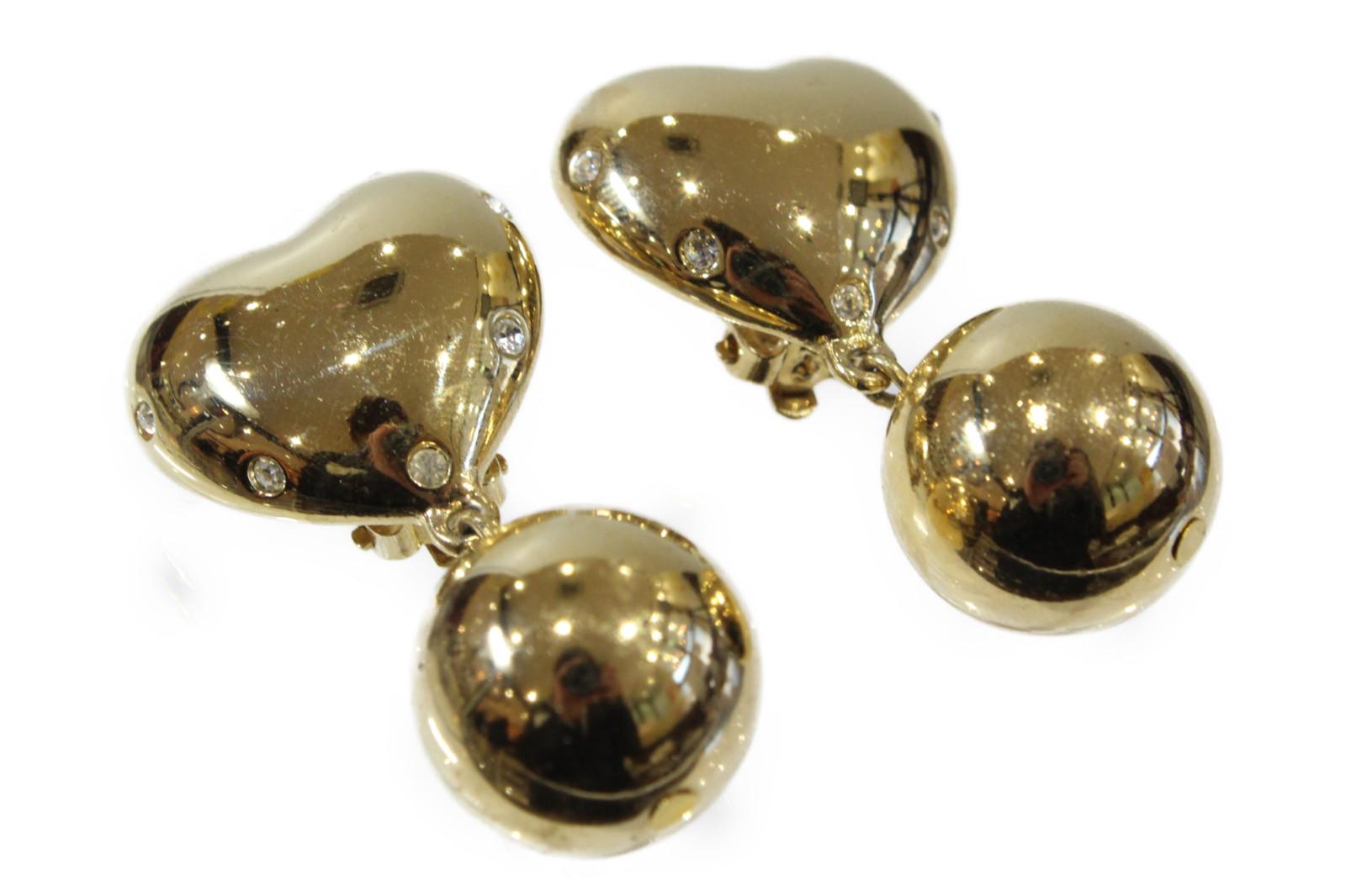 【GIVENCHY(ジバンシー)】ハートモチーフイヤリングゴールド 存在感 高級オシャレ ギフト包装可【中古】