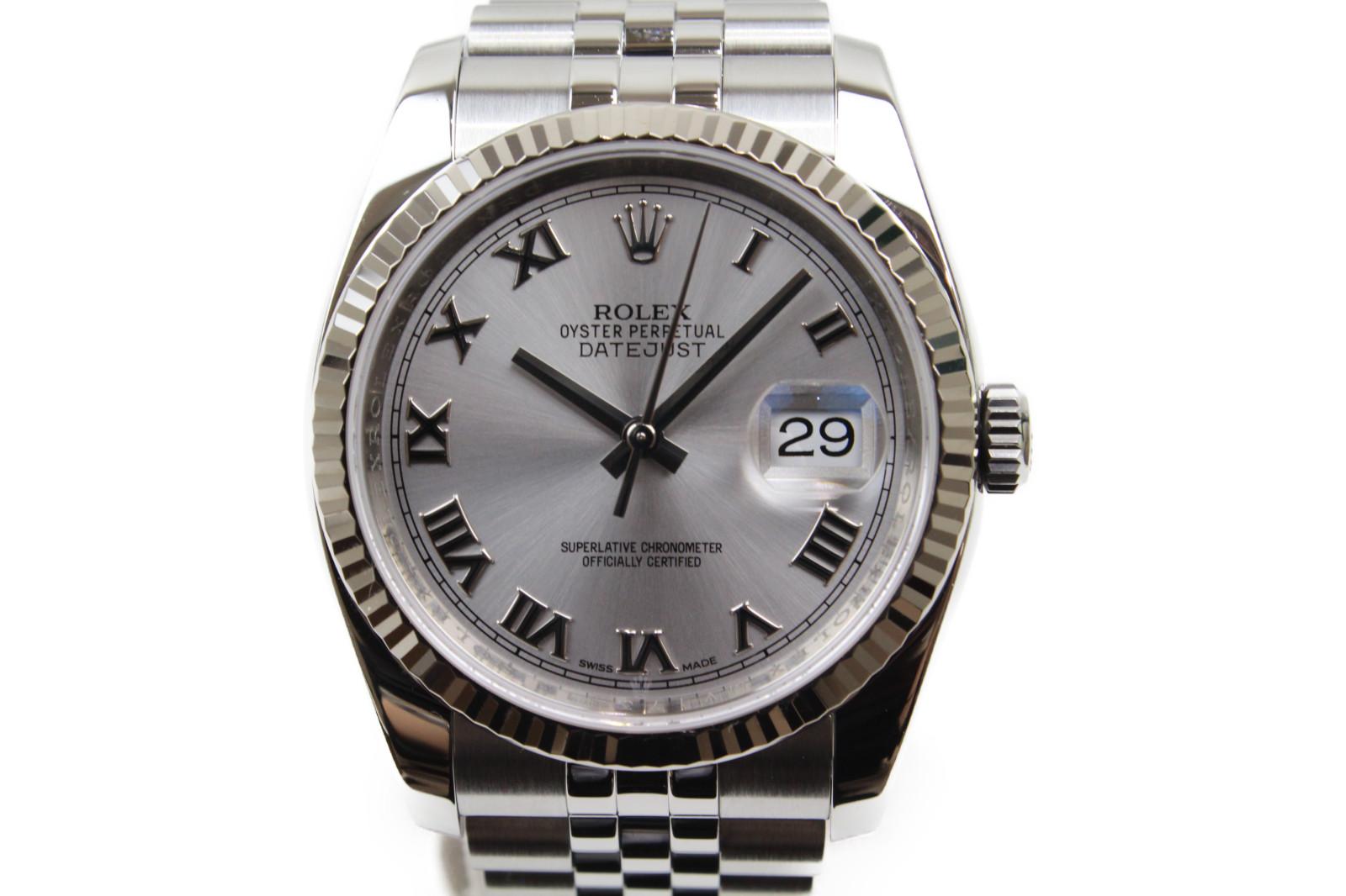 【ギャラ有】ROLEX ロレックス デイトジャスト 116234 ランダム 自動巻き デイト WG ホワイトゴールド SS ステンレススチール メンズ 腕時計【中古】