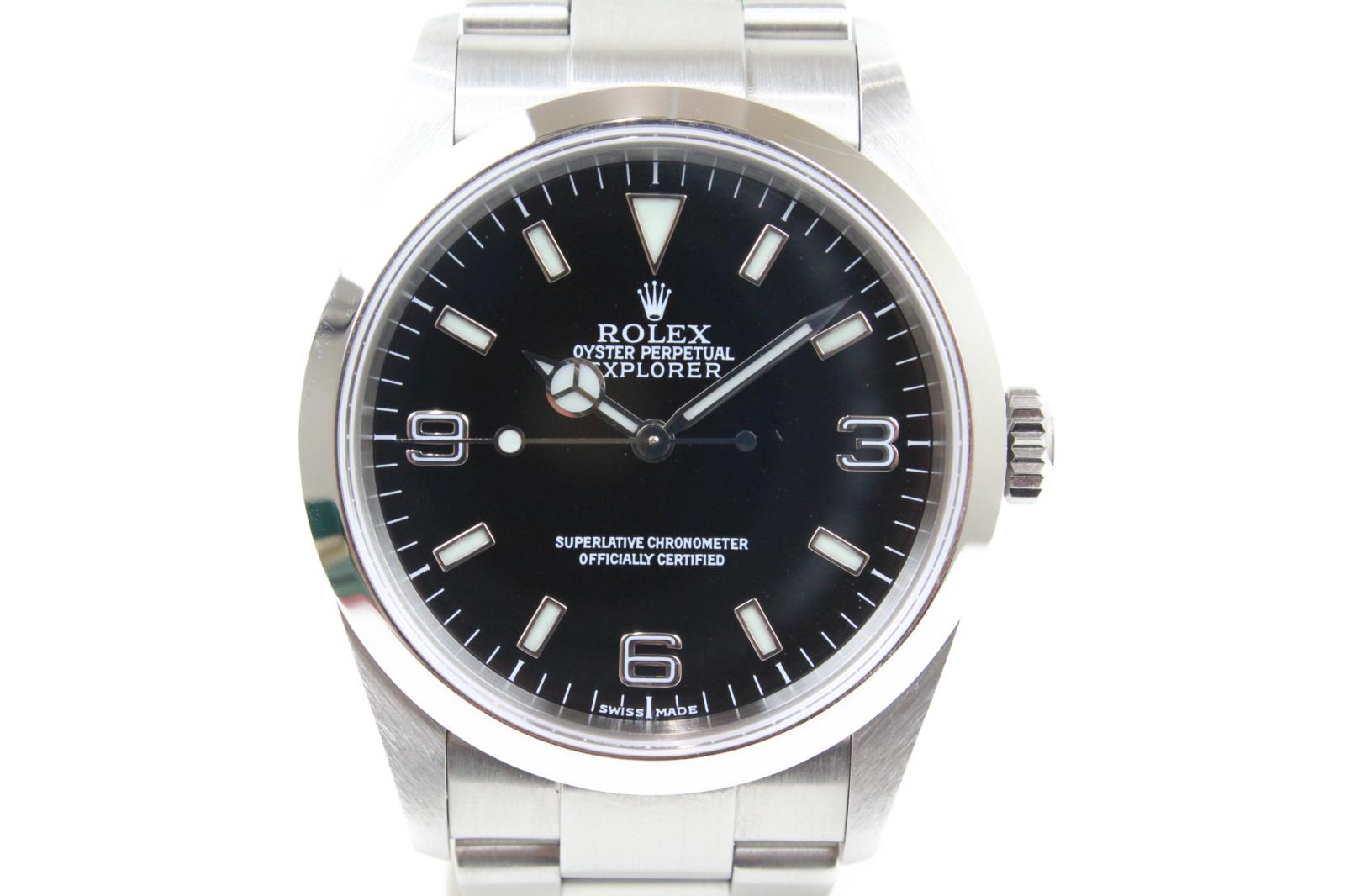 【ギャラ有】ROLEX ロレックス エクスプローラーI 114270 K番 自動巻き SS ステンレススチール ブラック メンズ 腕時計【中古】