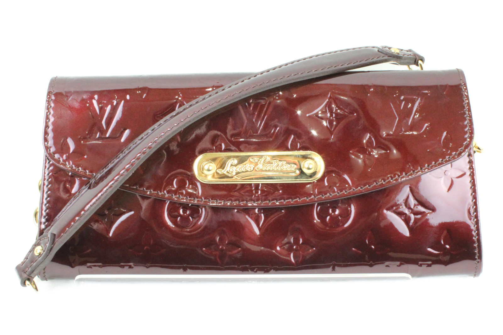 LOUIS VUITTON ルイヴィトンサンセット・ブルーバード M93542モノグラム・ヴェルニお財布 バッグ 人気カラーパーティ プレゼント包装可【中古】