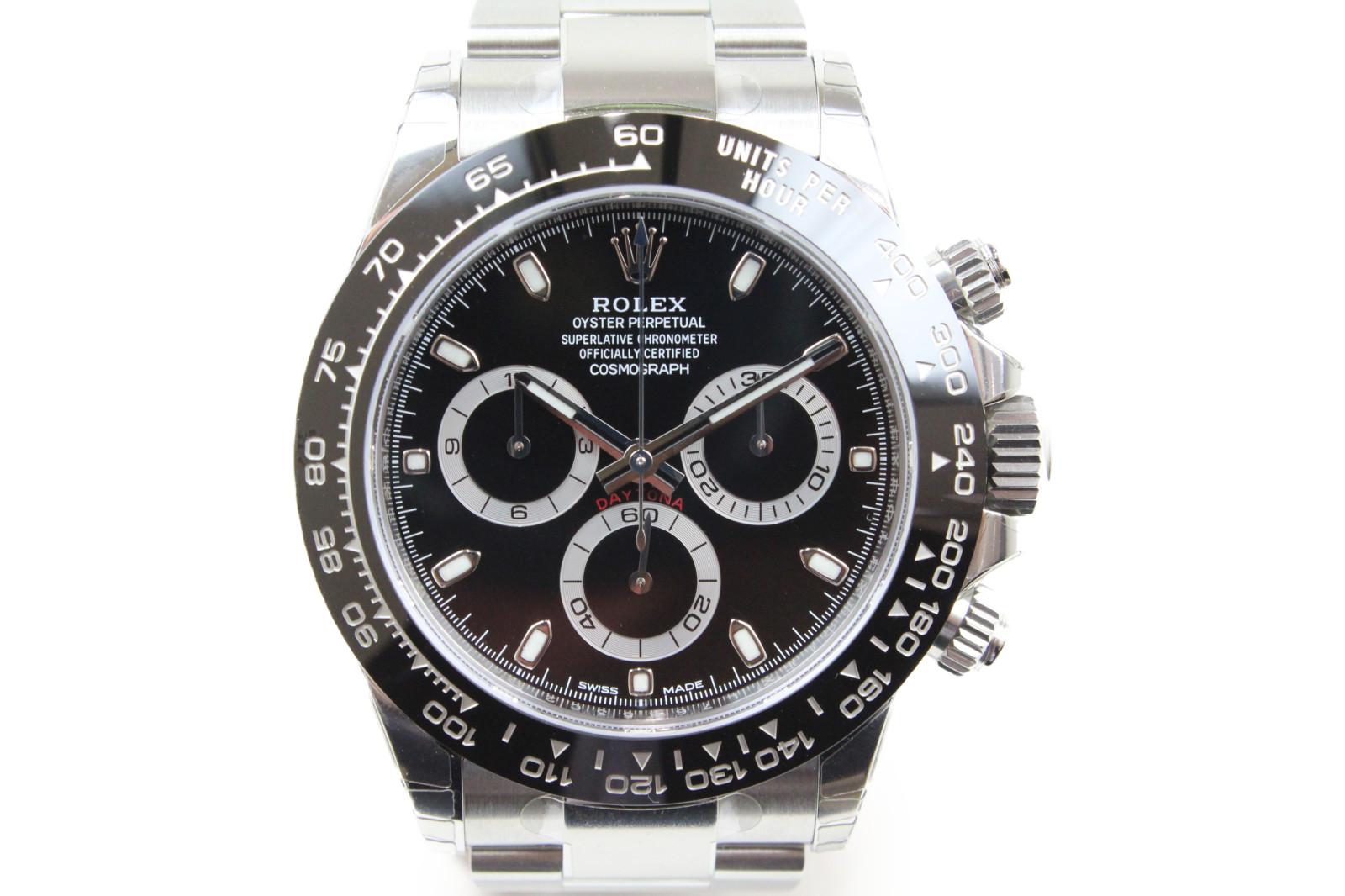【ギャラ有】ROLEX ロレックス デイトナ 116500LN ランダム 2018年購入 クロノグラフ 自動巻き SS ステンレススチール ブラック メンズ 腕時計【中古】