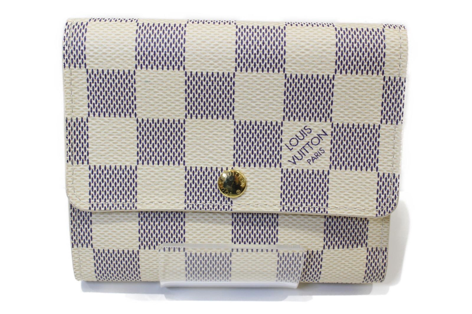 LOUIS VUITTON ルイヴィトンポルトフォイユアナイス N63241ダミエ・アズール 2つ折り財布コンパクトウォレットプレゼント包装可 【中古】