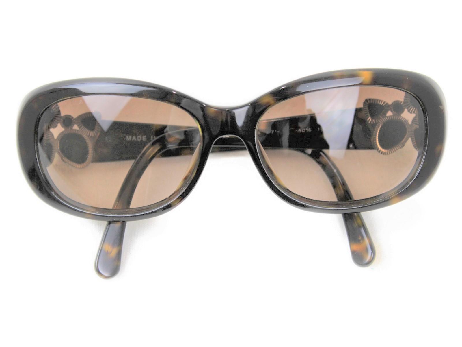 CHANEL シャネル サングラス5181-B ブラウン系 プラスチック レディース ウィメンズ ユニセックス ブランド 大人 眼鏡 ココマーク かわいい おしゃれ 【中古】