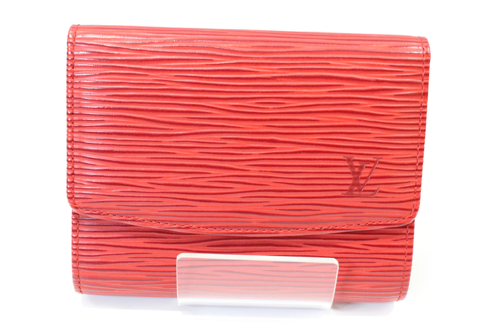 LOUIS VUITTON ルイヴィトンポルトカルトクレディ M63477エピ 赤 カード入プレゼント包装可 【中古】
