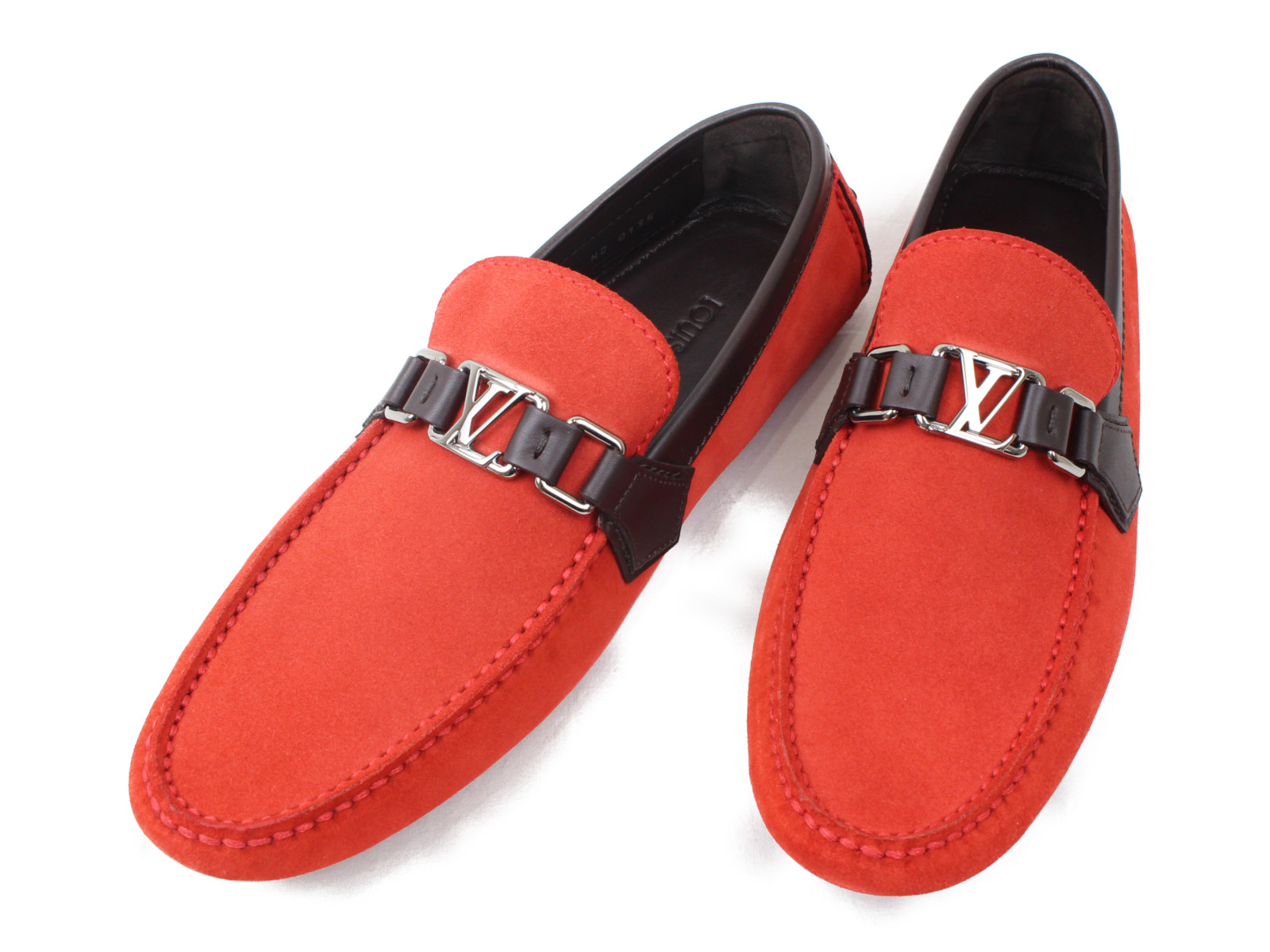 【特上品】【箱あり】LOUIS VUITTON ルイ ヴィトンホッケンハイム・ライン ローファー 1A44T1 オランジュ オレンジ系 靴 メンズ 男性 サイズ7 1/2 日本サイズ約26.5cm おしゃれ かっこいい プレゼント 贈り物【中古】