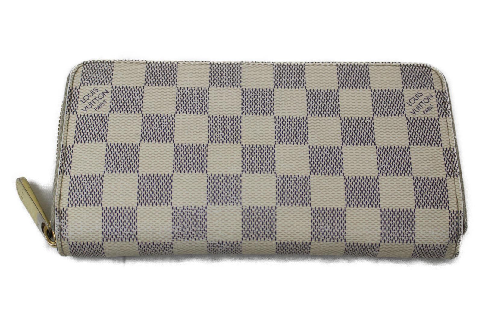 【箱・布袋あり】LOUIS VUITTON ルイヴィトンジッピー・ウォレット N41660ダミエ・アズール ラウンドファスナー長財布プレゼント包装可 【中古】