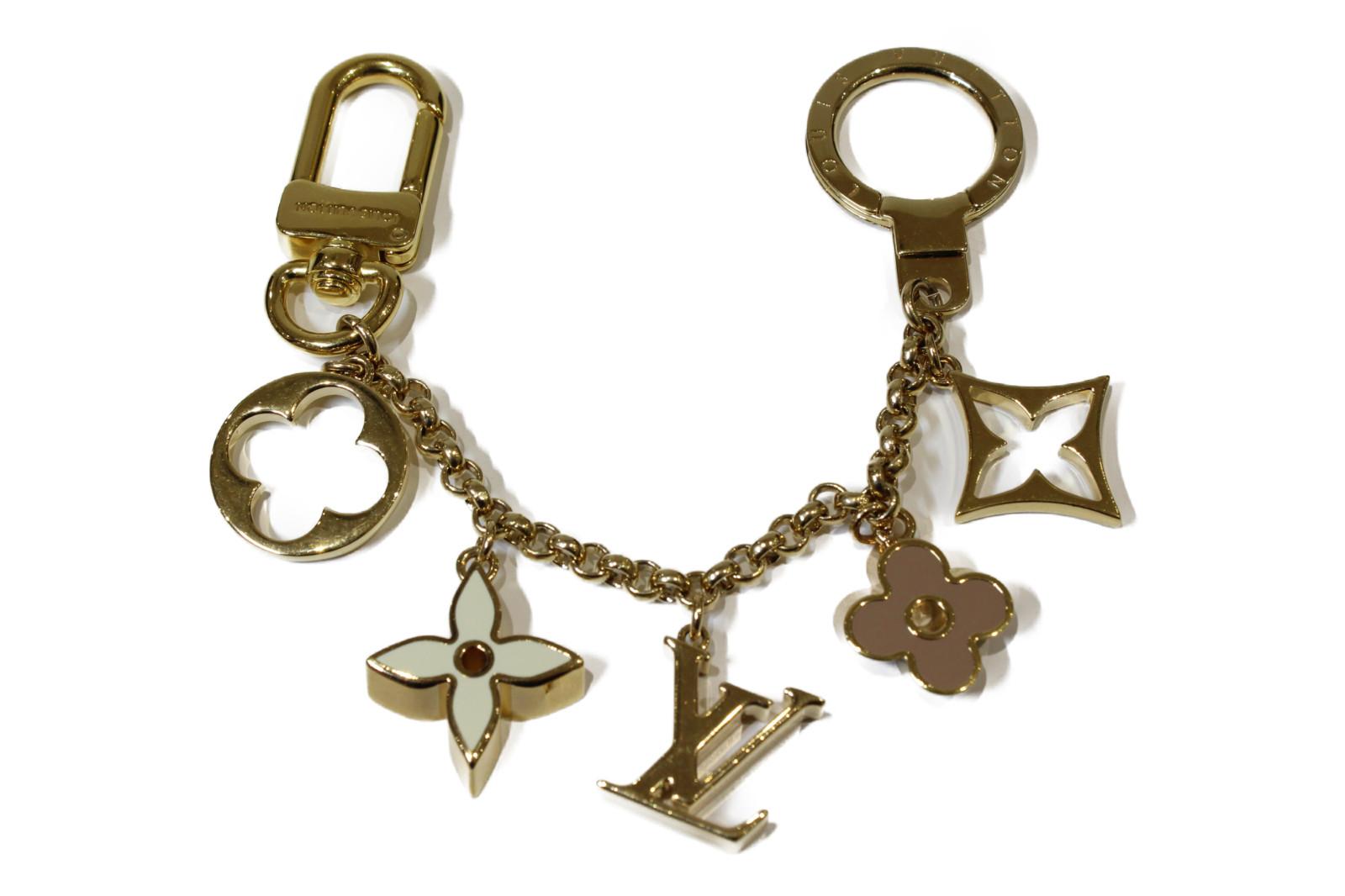 LOUIS VUITTON ルイヴィトンバッグチャーム・チェーンフルールドゥ M65111チャーム 花 キーホルダープレゼント包装可 【中古】