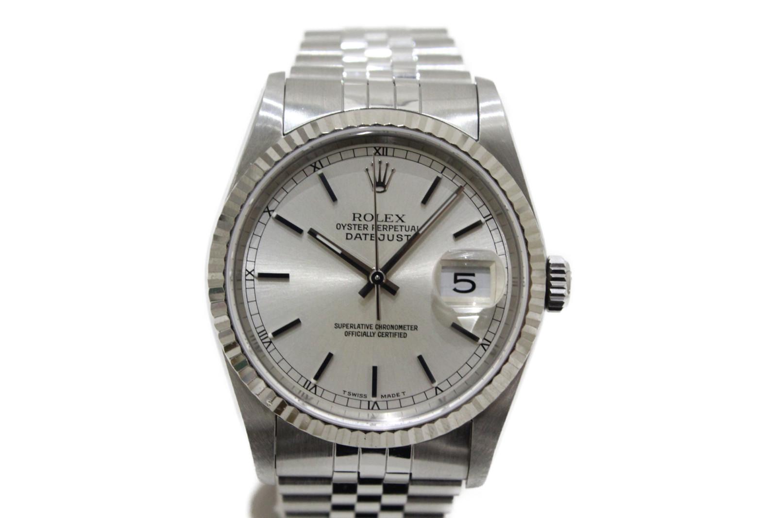 ROLEX ロレックス デイトジャスト 16234 L番 1989年 自動巻き K18WG ホワイトゴールド SS ステンレススチール シルバー メンズ 腕時計【中古】