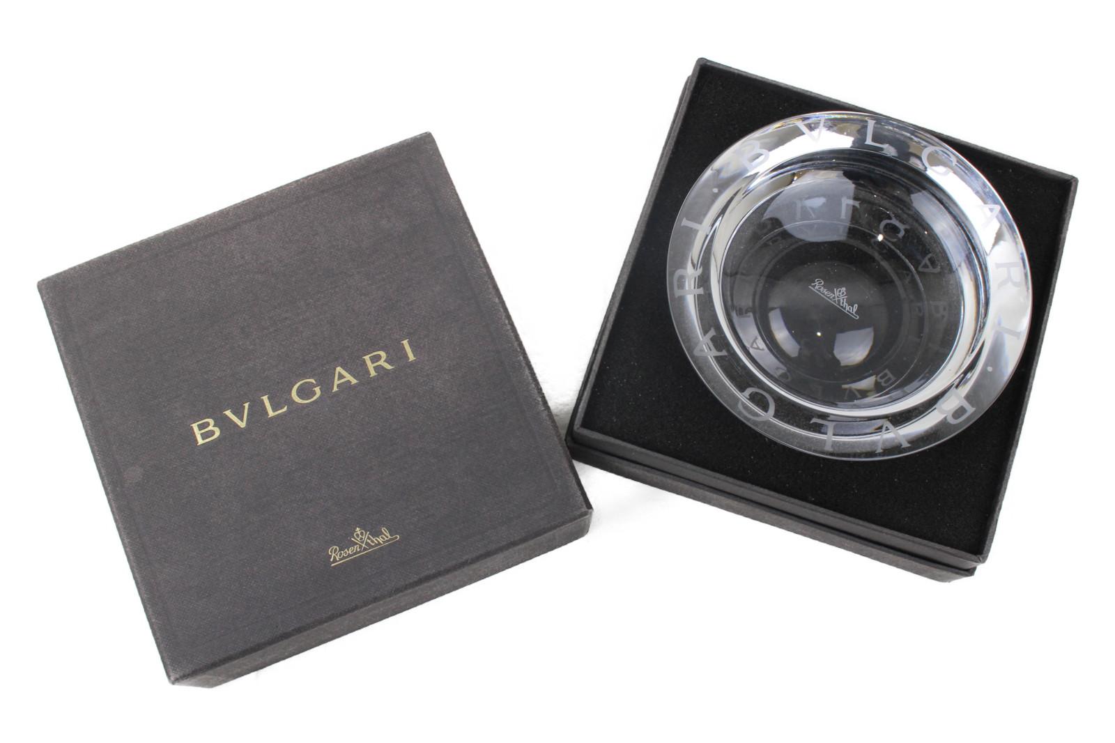 【珍しい!】 BVLGARI ブルガリ ローゼンタール クリスタル 灰皿     レディース ユニセックス メンズ ウィメンズ インテリア 小物 飾り プレゼント ギフト 贈り物 高級 珍しい 置物 【中古】