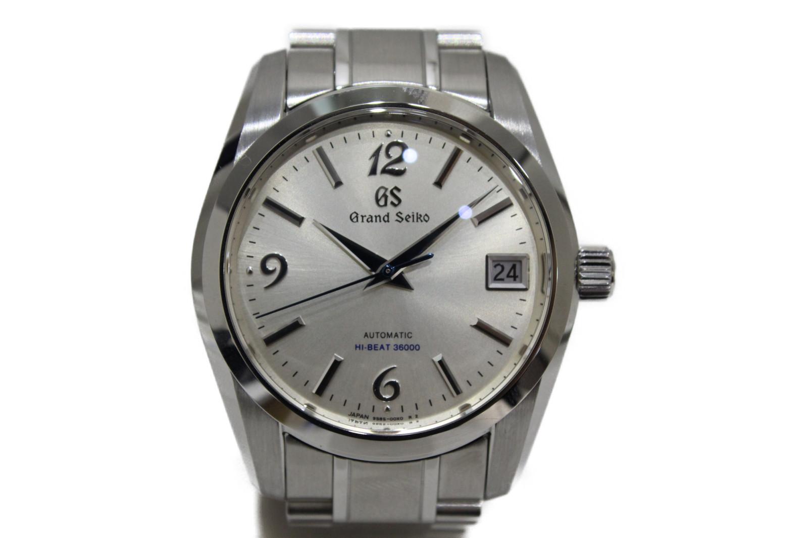 【銀座和光限定モデル】GRAND SEIKO グランドセイコー SBGH241 自動巻き デイト SS ステンレススチール シルバー メンズ 腕時計【中古】
