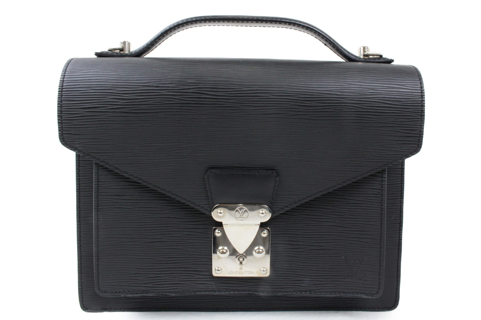 LOUIS VUITTONモンソー M52792セカンドバッグ クラッチバッグ エピプレゼント包装可【中古】