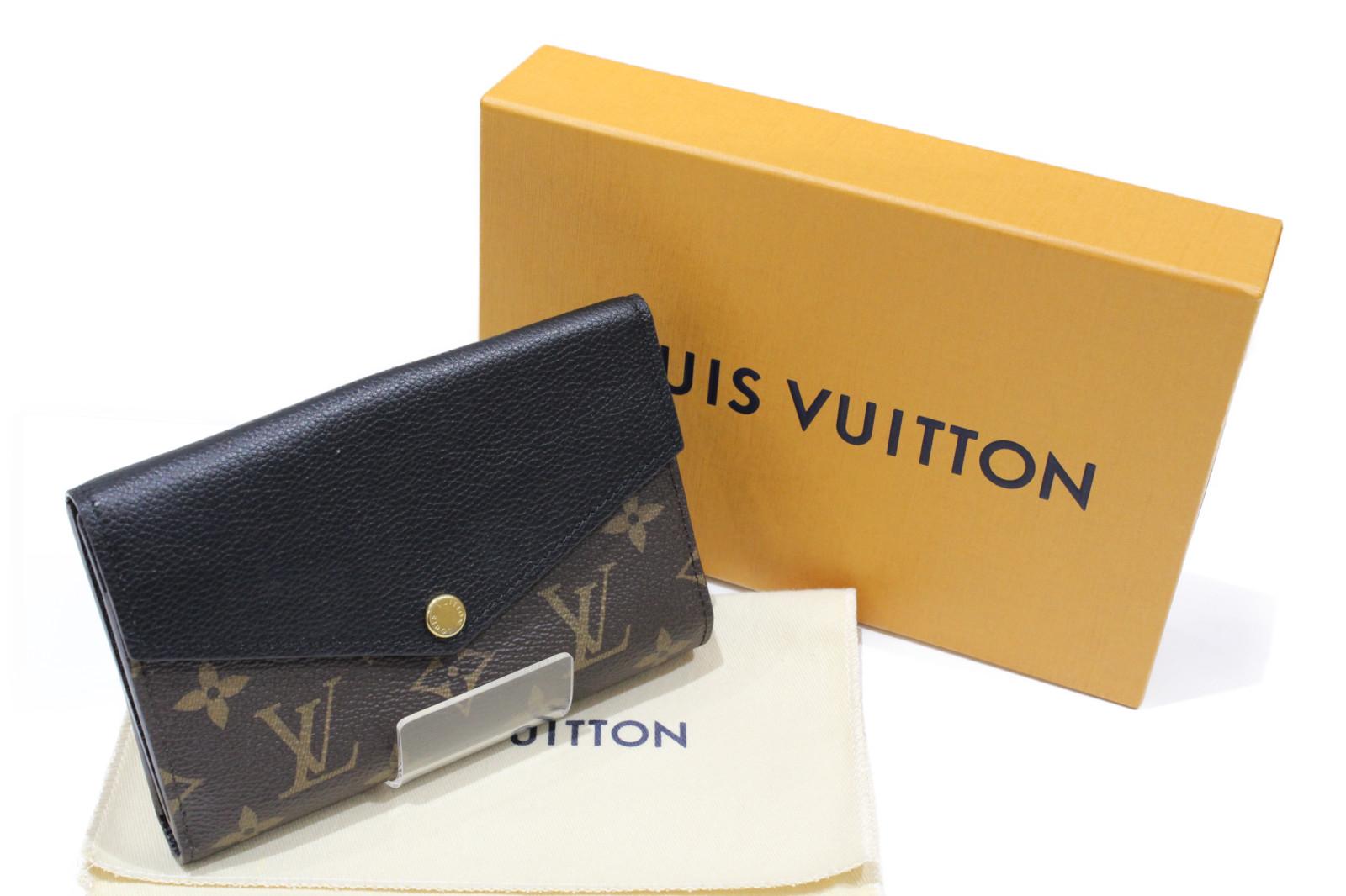 LOUIS VUITTON ルイヴィトン ポルトフォイユ・パラスコンパクト M60990 モノグラム ノワール 折り財布 レディース メンズ ウィメンズ【中古】