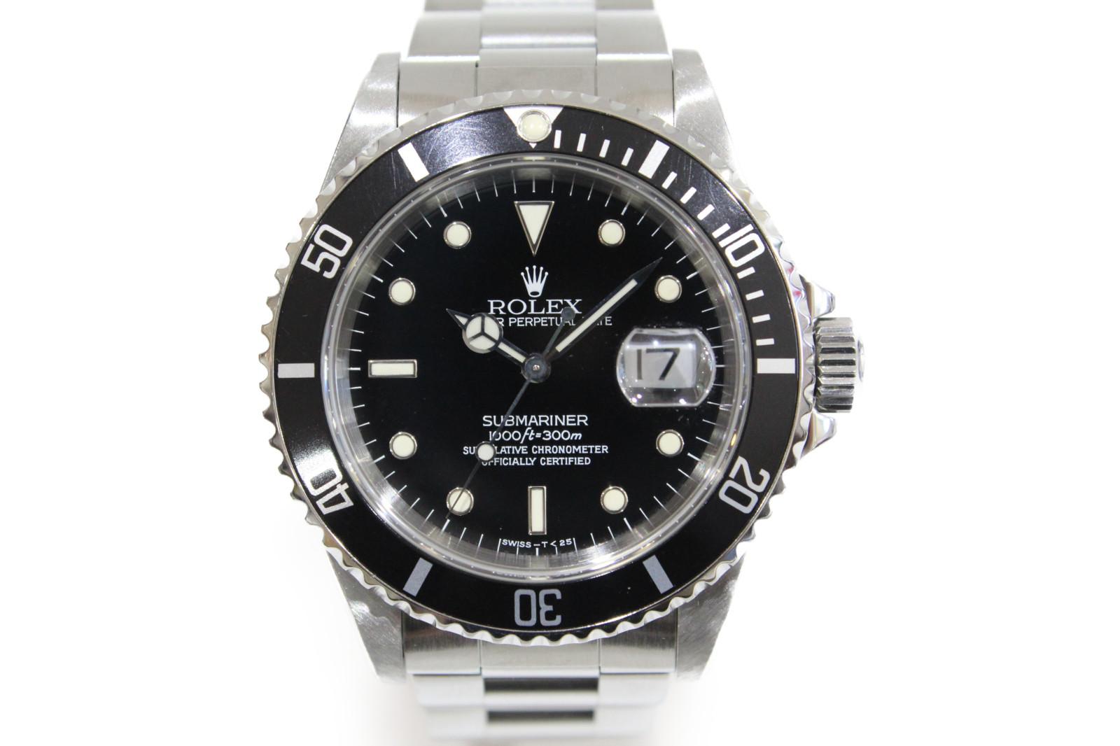 【OH済み】ROLEX ロレックス サブマリーナーデイト 16610 W番 自動巻き デイト 300M防水 SS ステンレススチール ブラック メンズ 腕時計【中古】
