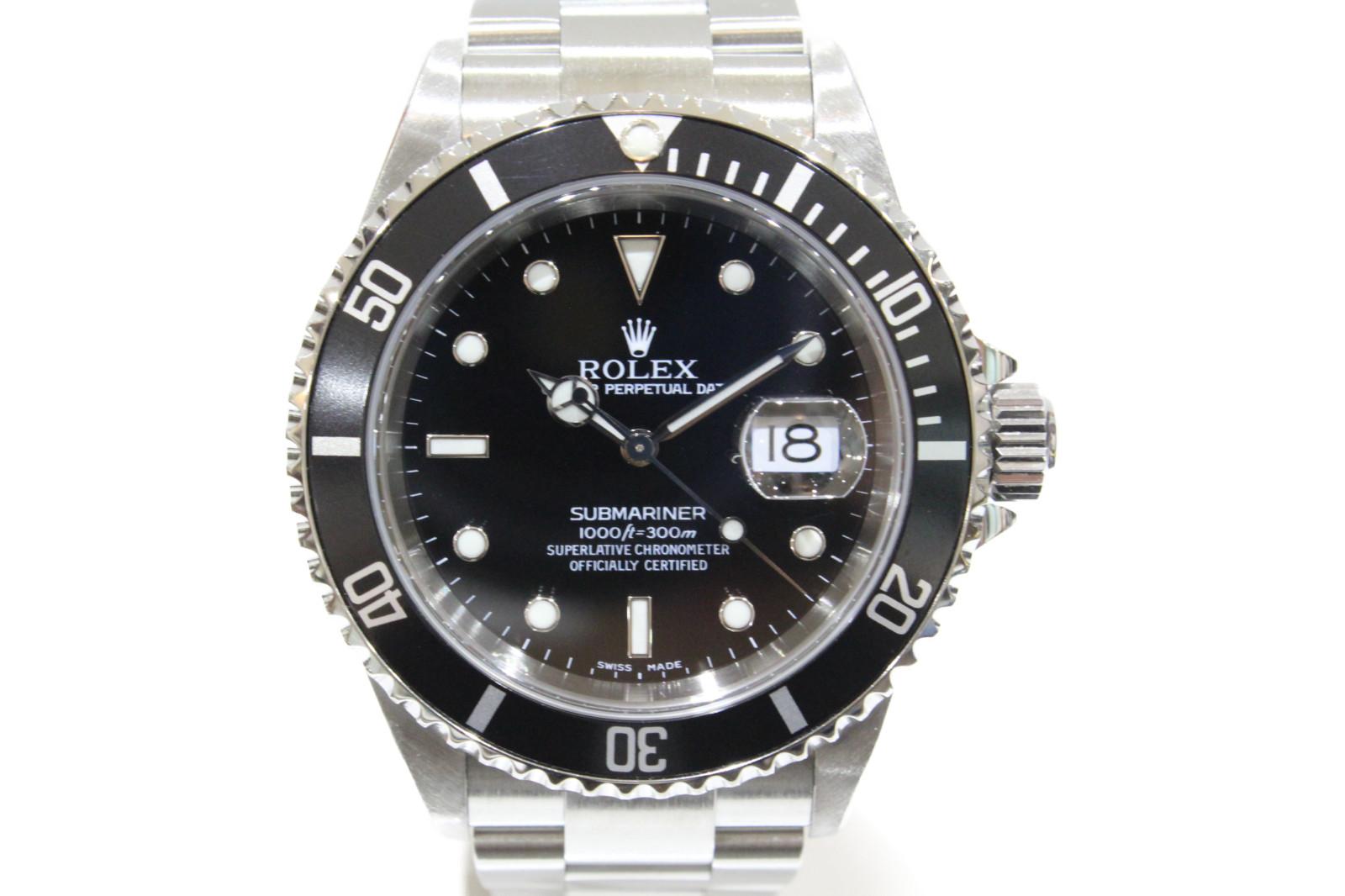 【ギャラ有】ROLEX ロレックス サブマリーナーデイト 16610 P番 自動巻き デイト SS ステンレススチール ブラック メンズ 腕時計【中古】