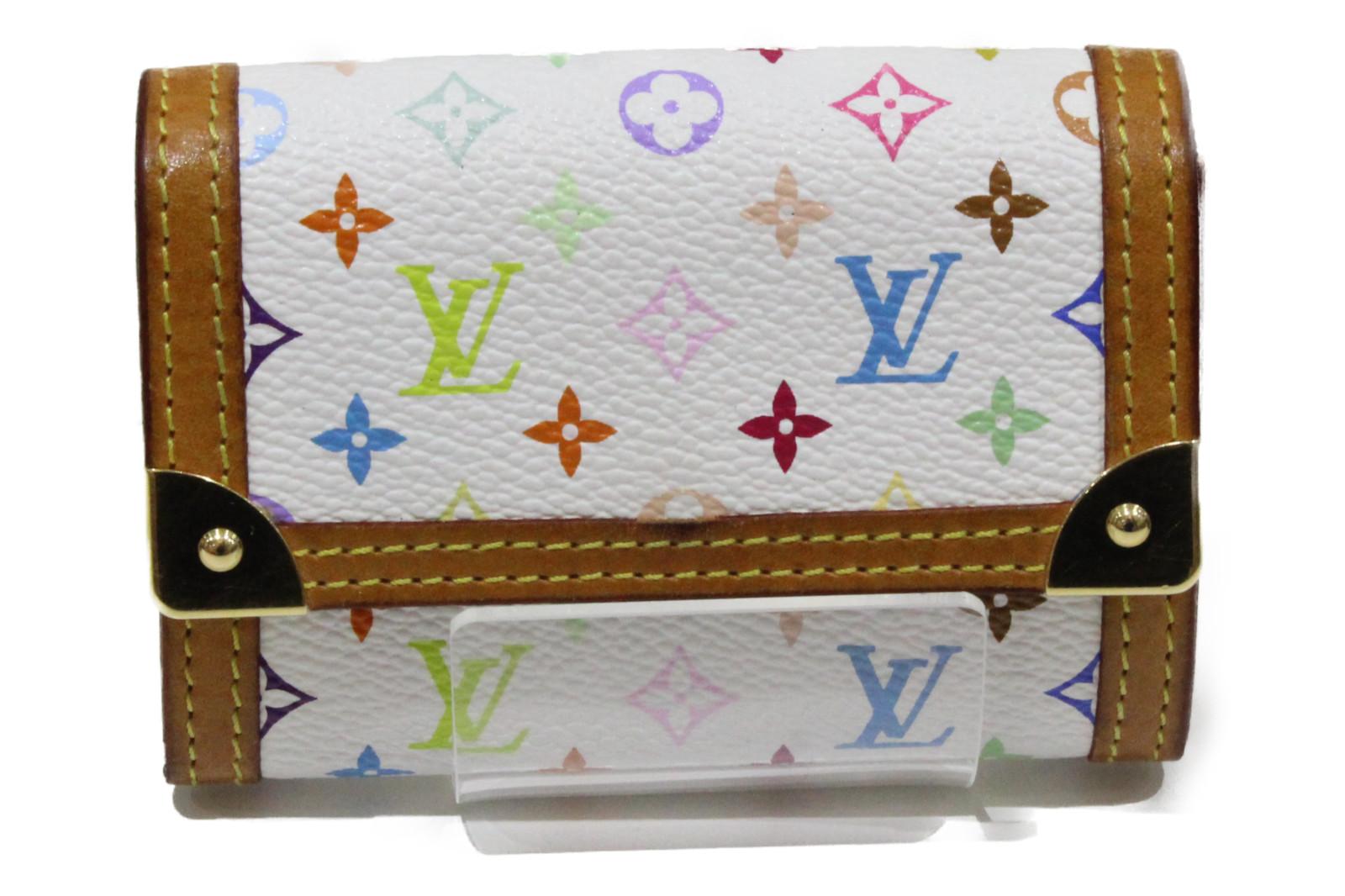 【☆実用性抜群☆】LOUIS VUITTON ルイヴィトンポルトモネ・プラ M92657マルチカラー 小銭入れプレゼント包装可 【中古】