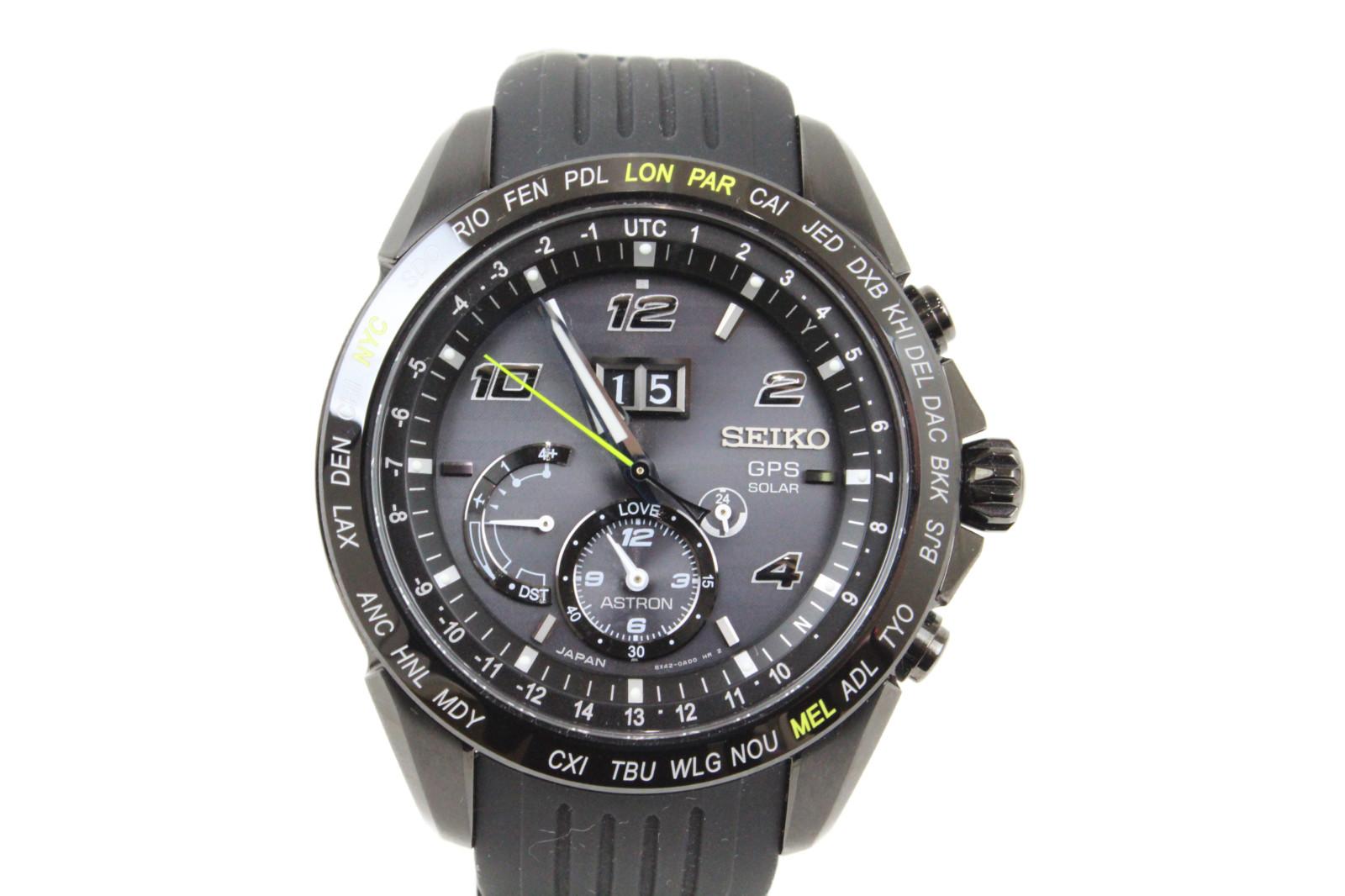 【世界5000本ジョコビッチ限定モデル】 SEIKO セイコー アストロンSBXB143 SS ステンレススチール ブラック メンズ 腕時計【中古】