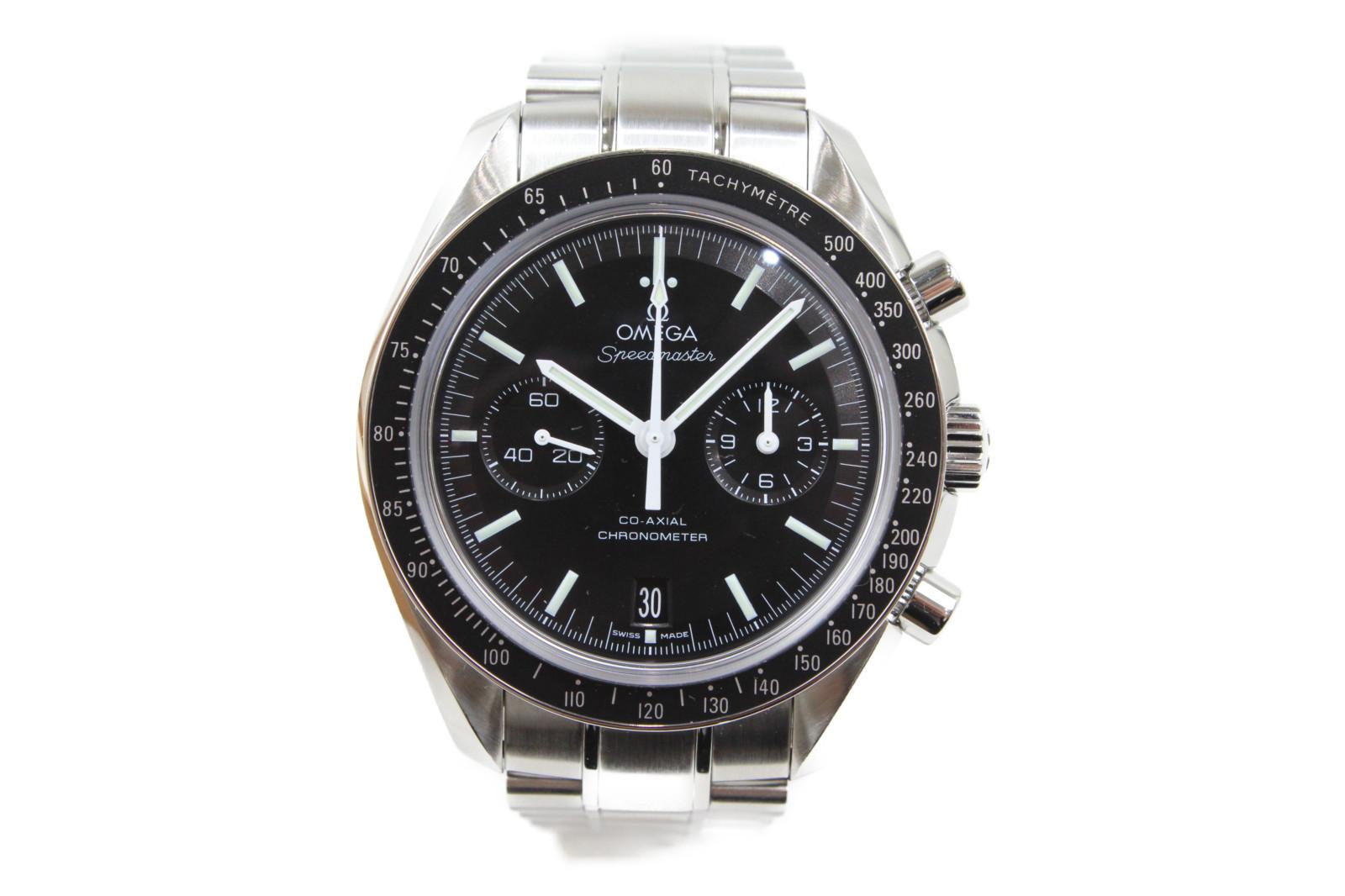 【ギャラ有】OMEGA オメガ スピードマスター コーアクシャル クロノメーター  311.30.44.51.01.002 自動巻き クロノグラフ デイト SS ステンレススチール ブラック メンズ 腕時計【中古】