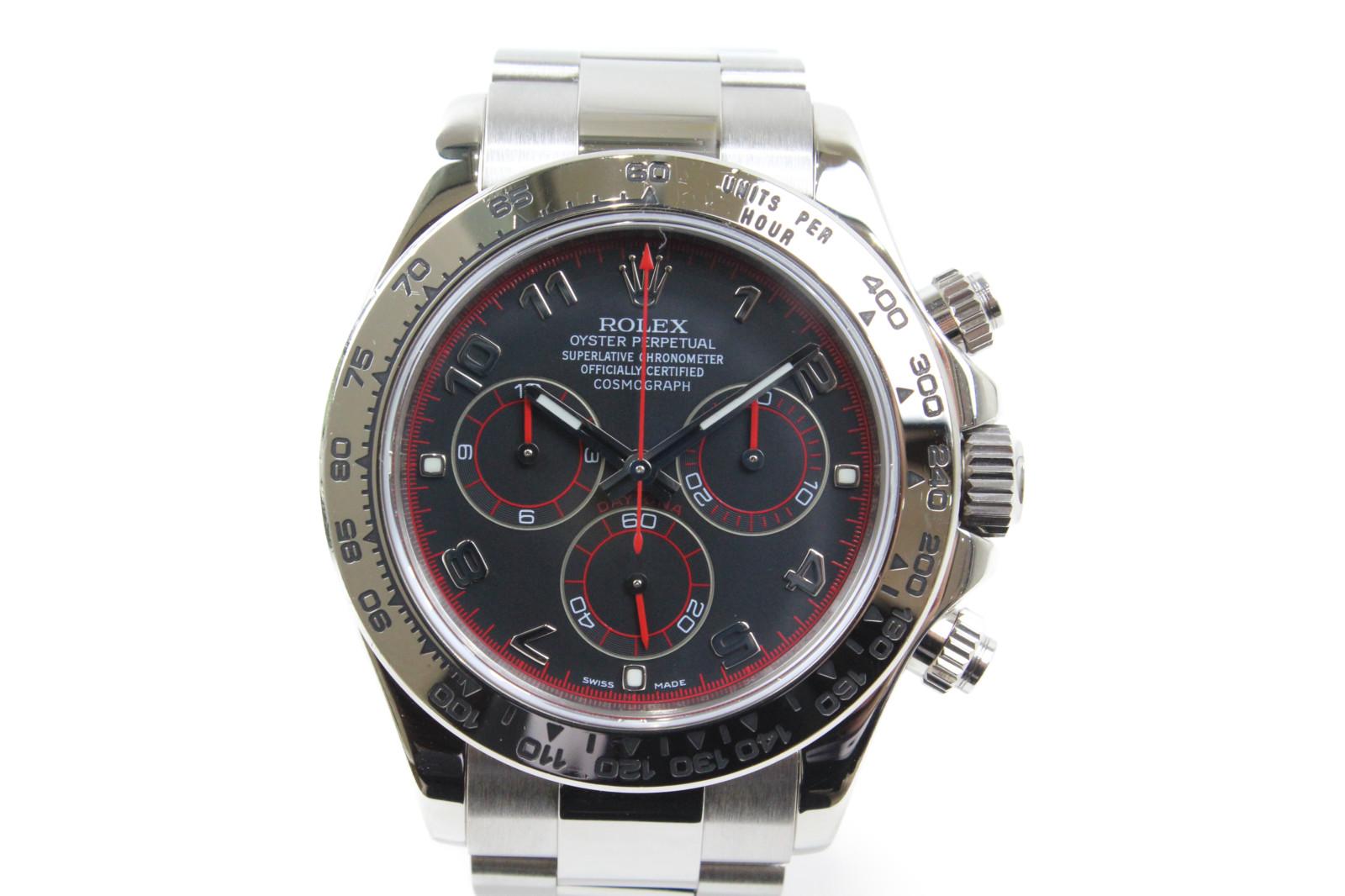 ROLEX ロレックス デイトナ 116509 自動巻き クロノグラフ K18WG無垢 ホワイトゴールド ブラック レッド メンズ 腕時計【中古】