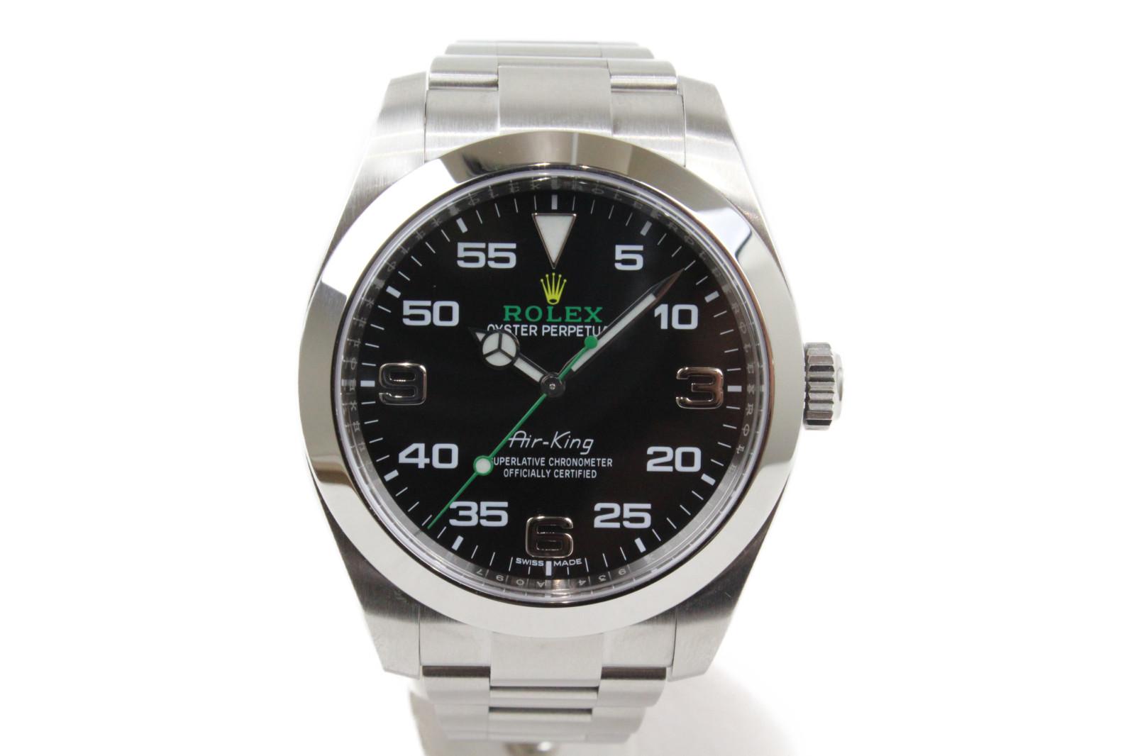 ROLEX ロレックス エアキング 116900 自動巻き ランダム 2017年 SS ステンレススチール ブラック  メンズ 腕時計【中古】