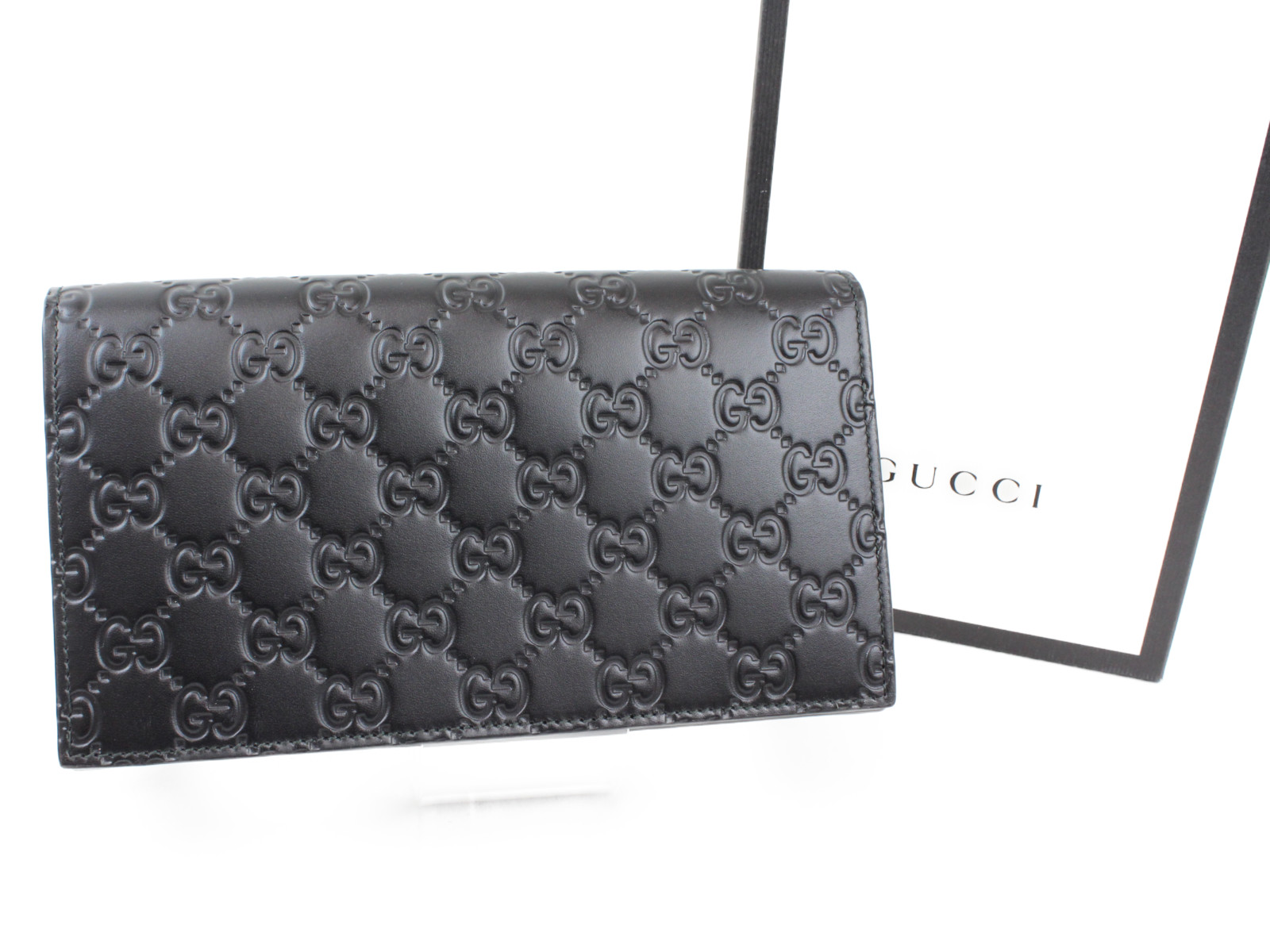check out 05a25 8600a GUCCI 【中古】 メンズ 長財布 財布 ウォレット ブラック グッチ ...