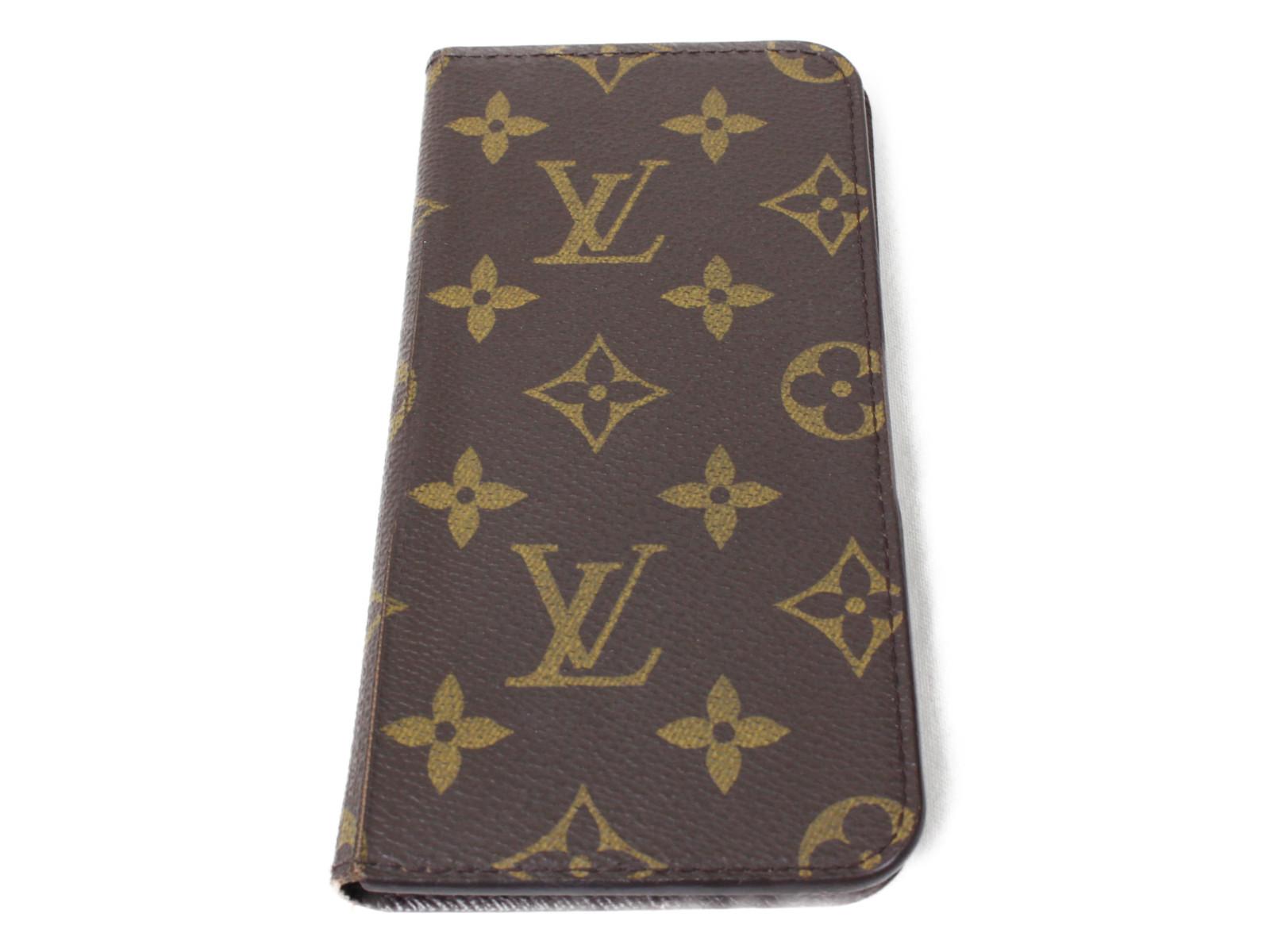 LOUIS VUITTON ルイヴィトン アイフォン6+ケース M61423 モノグラム シンプル プレゼント包装可 【中古】