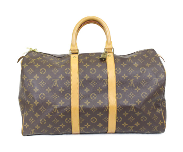 LOUIS VUITTON ルイ ヴィトン キーポル 45 M41428 モノグラム 旅行バッグ ユニセックス プレゼント包装可【中古】