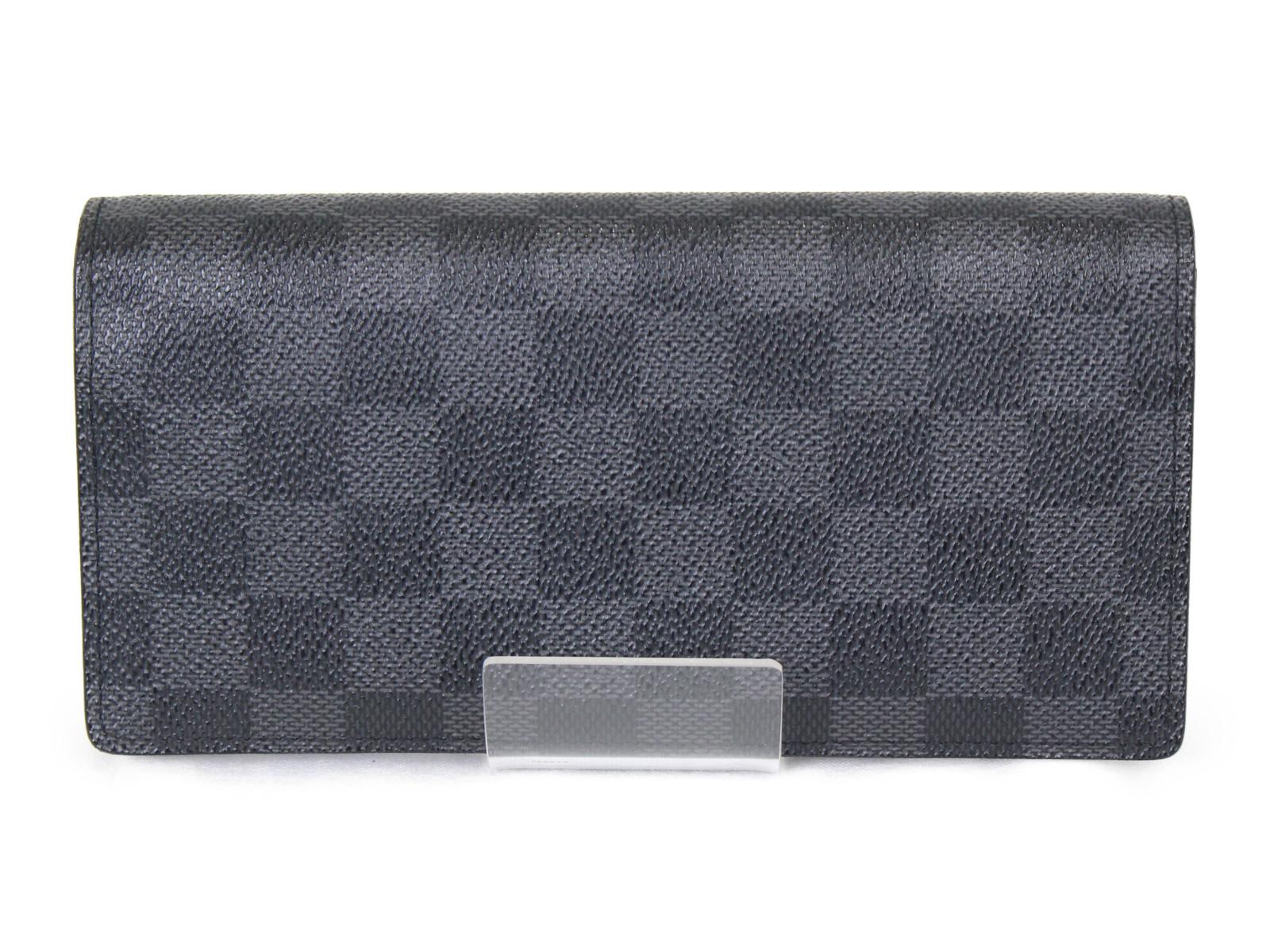 【箱・布袋あり】 LOUIS VUITTON ルイヴィトン ポルトフォイユ・ブラザ N62665 長財布 ダミエグラフィット シンプル メンズ プレゼント包装可 【中古】