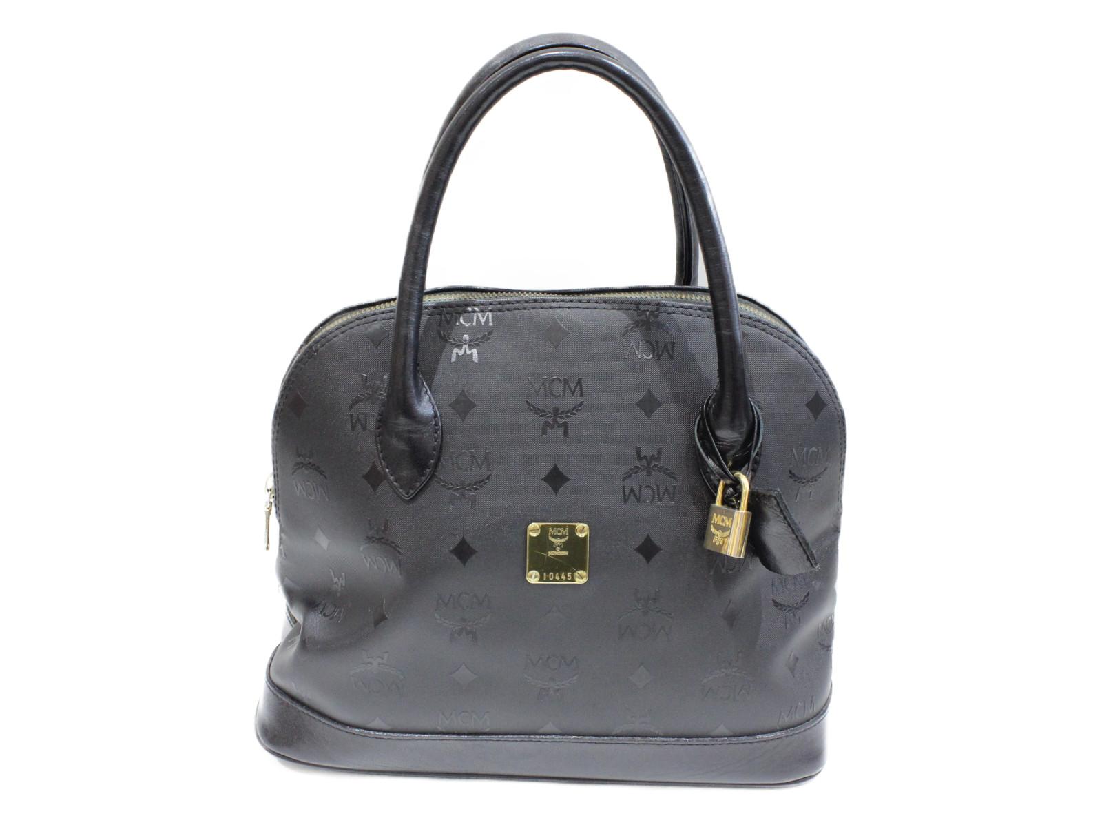 【MCM(エムシーエム)】ハンドバッグ普段使い ブラック シンプル人気商品 プレゼント包装可【中古】
