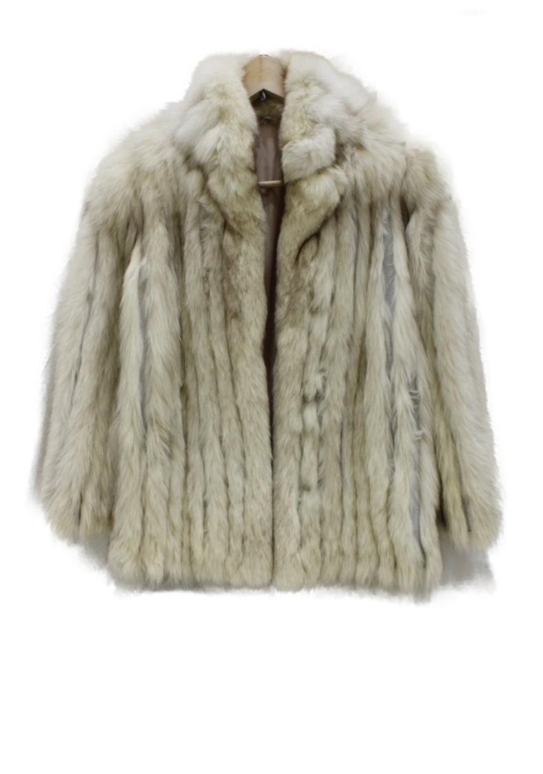 毛皮   クリームカラー系   レディース ユニセックス メンズ ウィメンズ コート サイズ約11号 【中古】