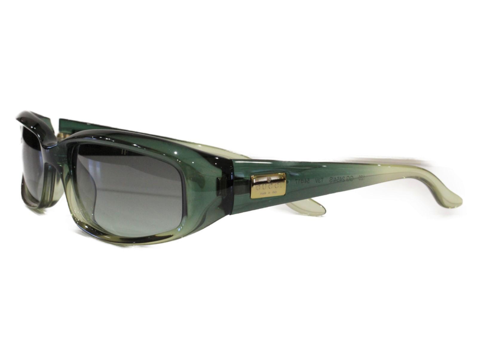 Gucci グッチ レディース サングラス 小物 GG2454/S ダークグリーン系 プラスチック 眼鏡 レディース ユニセックス メンズ ウィメンズ 眼鏡 かっこいい 小物 紳士 幅広【中古】, ミサトシ:438e3bf9 --- officewill.xsrv.jp