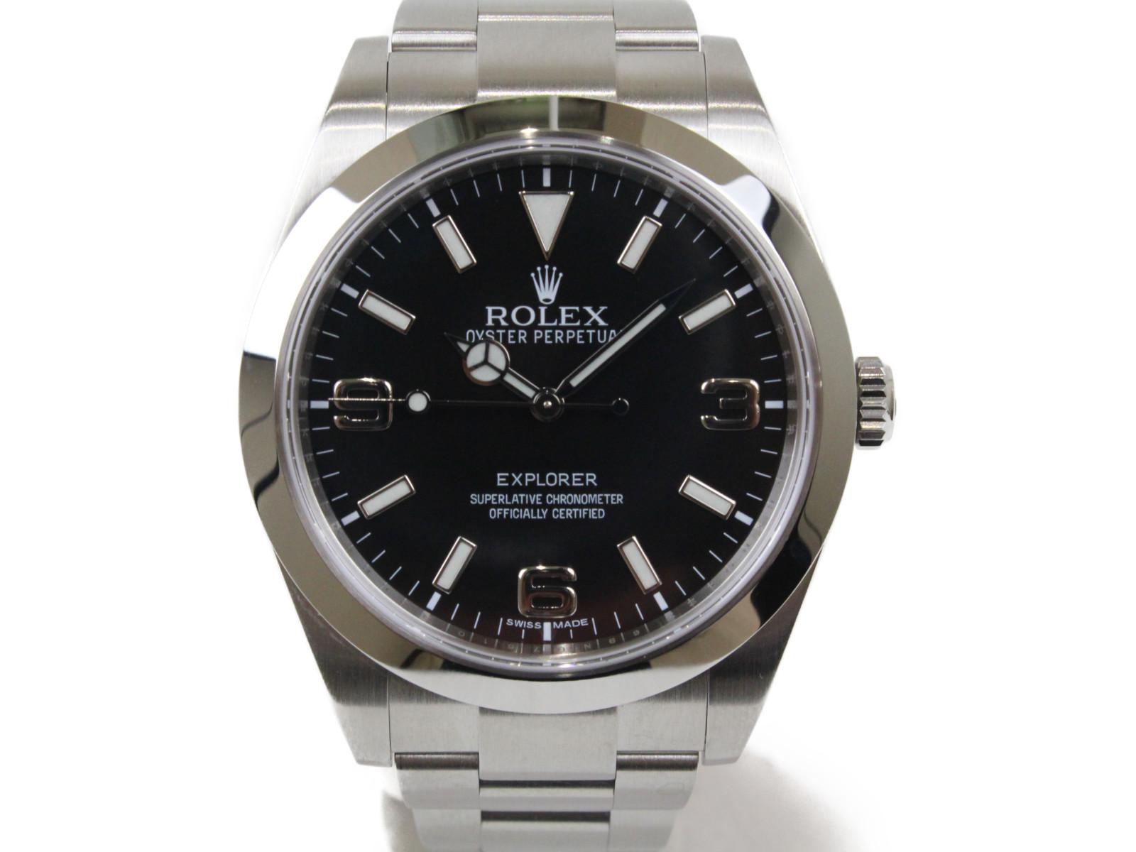 ROLEX ロレックス エクスプローラーI 214270 ランダム 2015年 自動巻き SS ステンレススチール ブラック メンズ 腕時計【中古】
