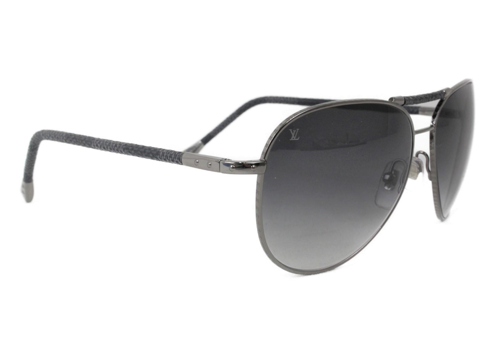 LOUIS VUITTON ルイヴィトン コンスピラシオン・パイロット Z0439U ダミエグラフィット/ダークグレー×ライトグレー   メンズ レディース ウィメンズ ユニセックス ブランド 小物 眼鏡 かっこいい【中古】