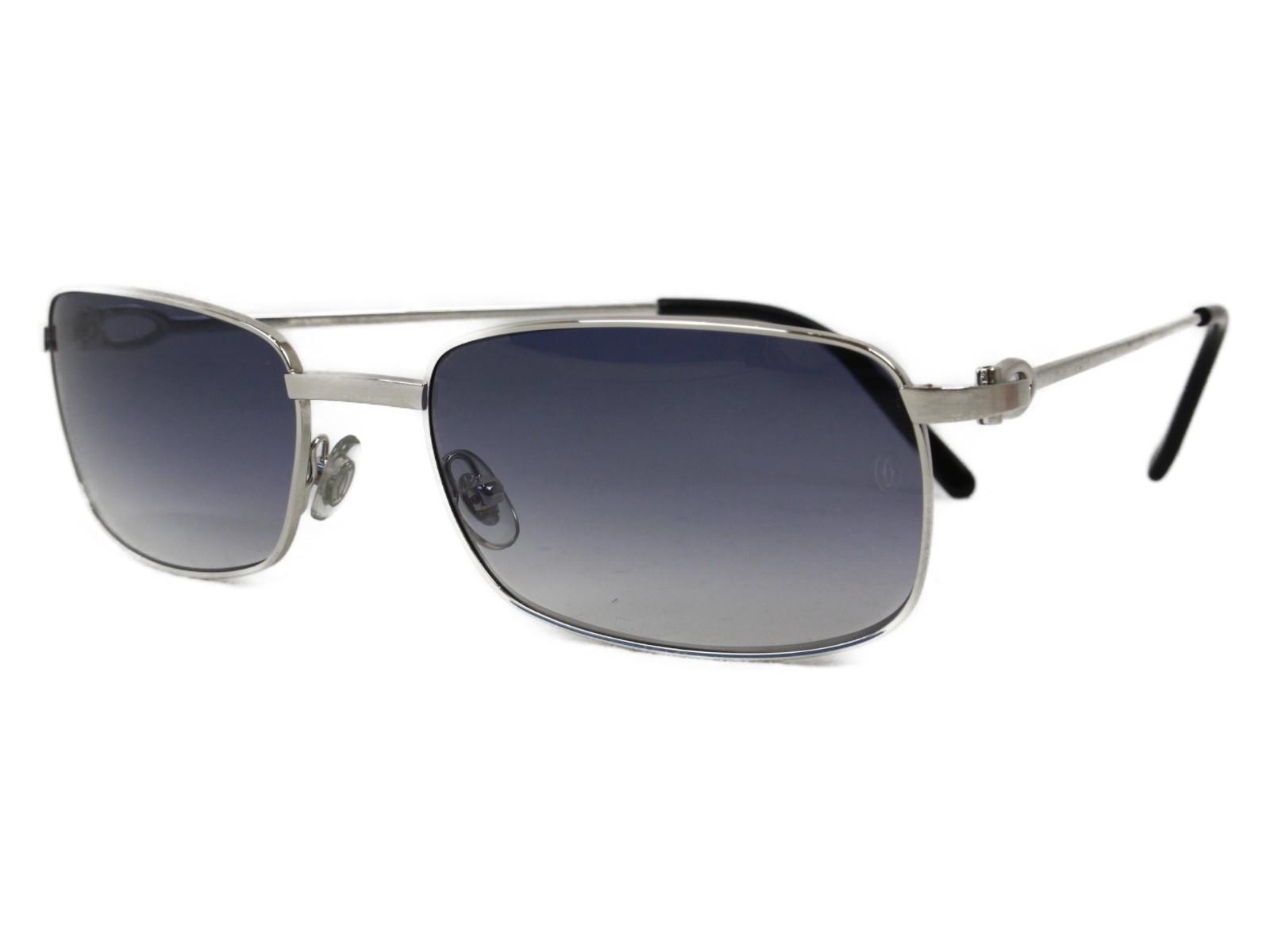CARTIER カルティエ サングラス   シルバー×ブラック   レディース ユニセックス メンズ ウィメンズ 眼鏡 かっこいい 小物 紳士【中古】
