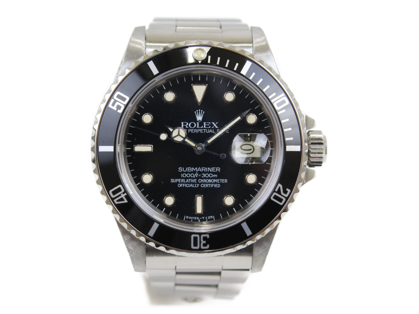 【アンティーク】ROLEX ロレックス サブマリーナーデイト 16800 1984年頃 自動巻き SS ステンレススチール ブラック メンズ 腕時計【中古】