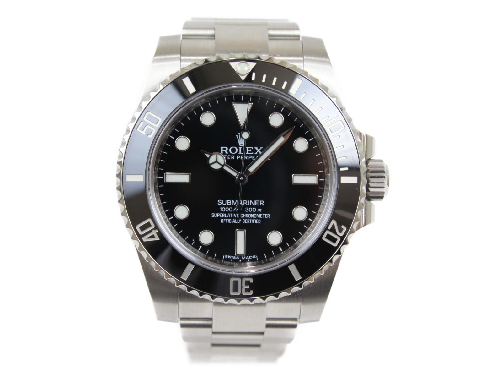 ROLEX ロレックス サブマリーナーノンデイト 114060 ランダム 2013年 自動巻き SS ステンレススチール ブラック メンズ 腕時計【中古】