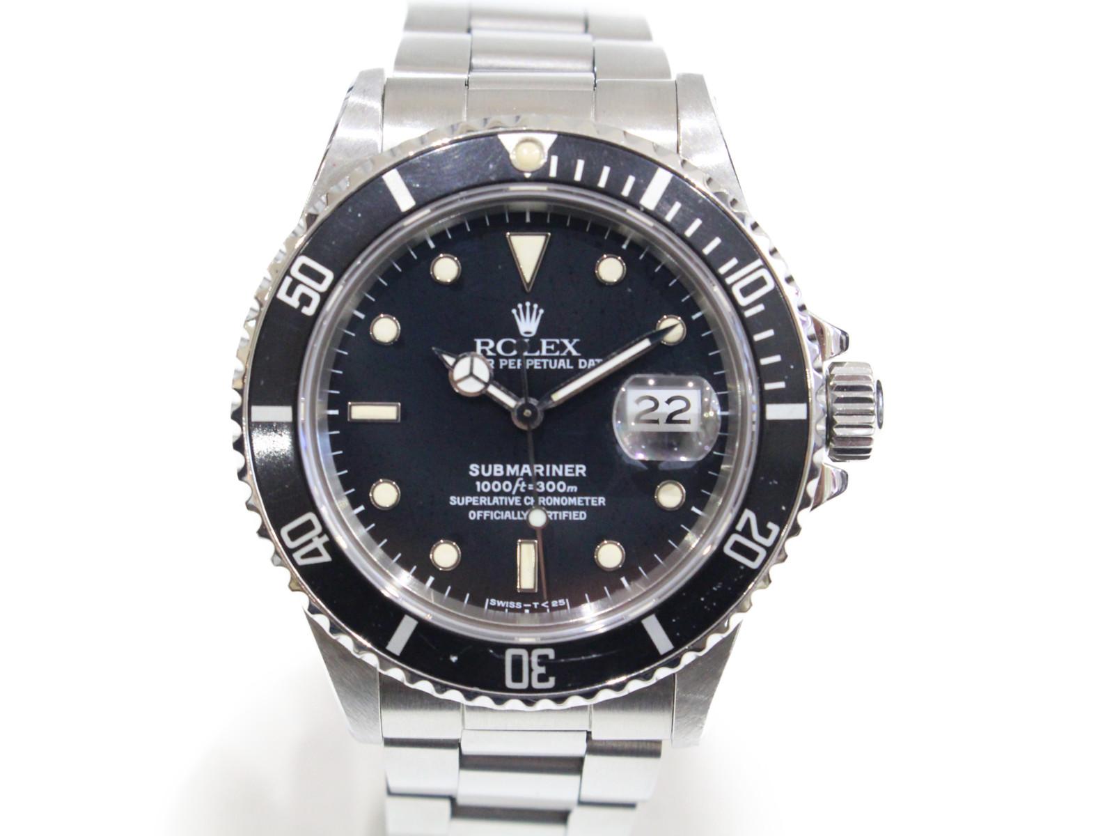 【トリプルゼロ】ROLEX ロレックス サブマリーナーデイト 168000 R番 自動巻き デイト SS ステンレススチール ブラック メンズ 腕時計【中古】